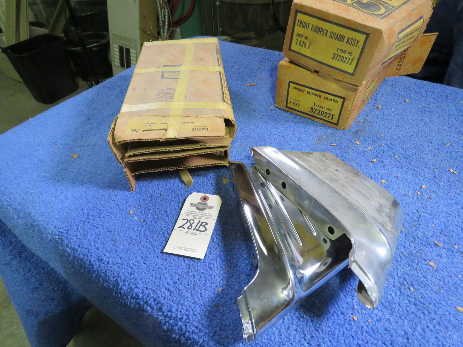 NIB 1956 Chevrolet Rocker Guards - Image 1