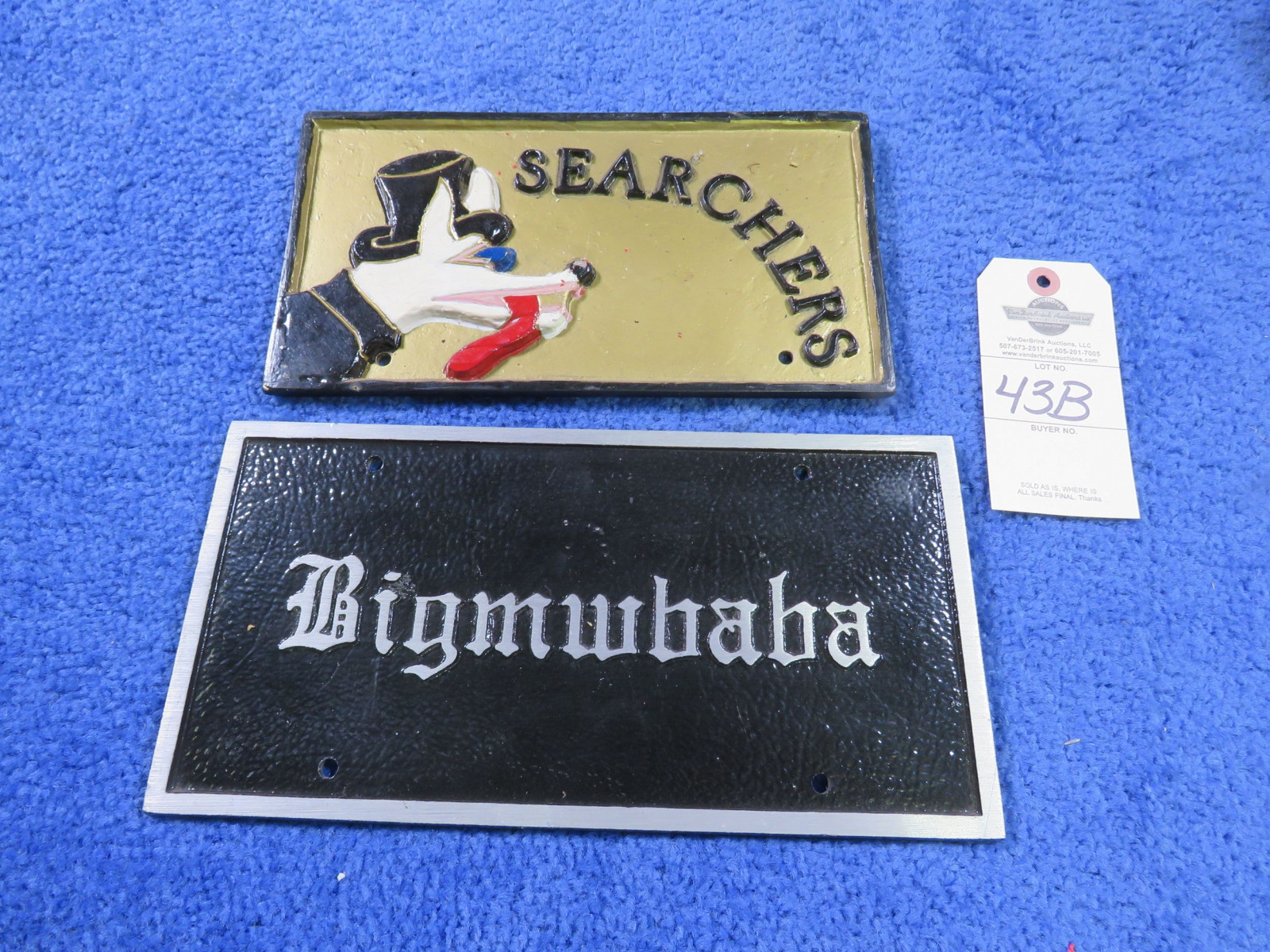 Searchers Vintage Vehicle Club Plates- Pot Metal - Image 1