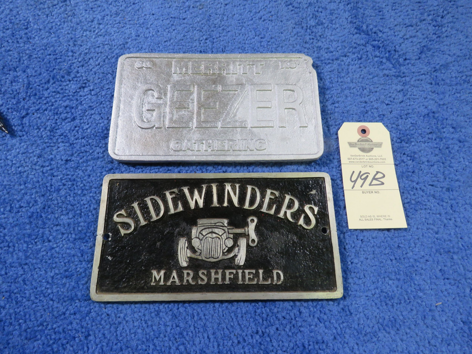 SideWindera Vintage Vehicle Club Plate- Pot Metal - Image 1
