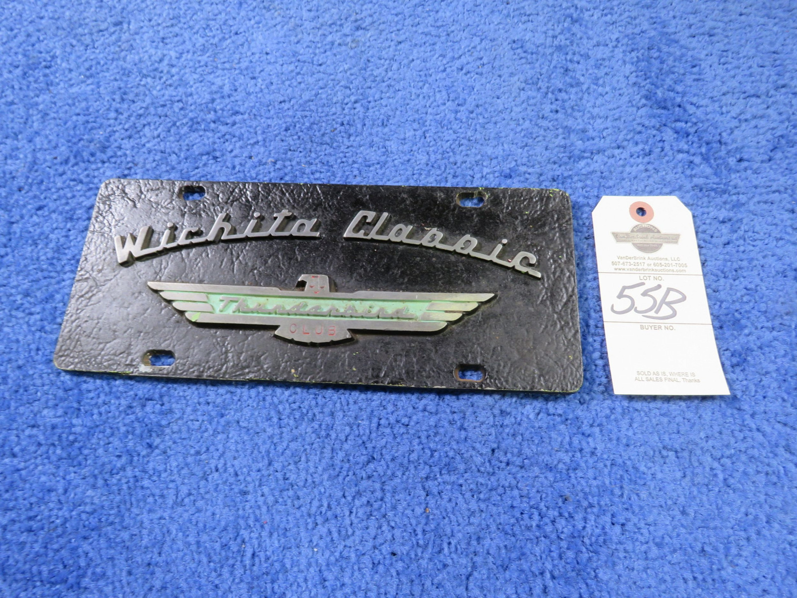 Wichita Classics and Thunderbirds Vintage Vehicle Club Plates- Pot Metal - Image 1