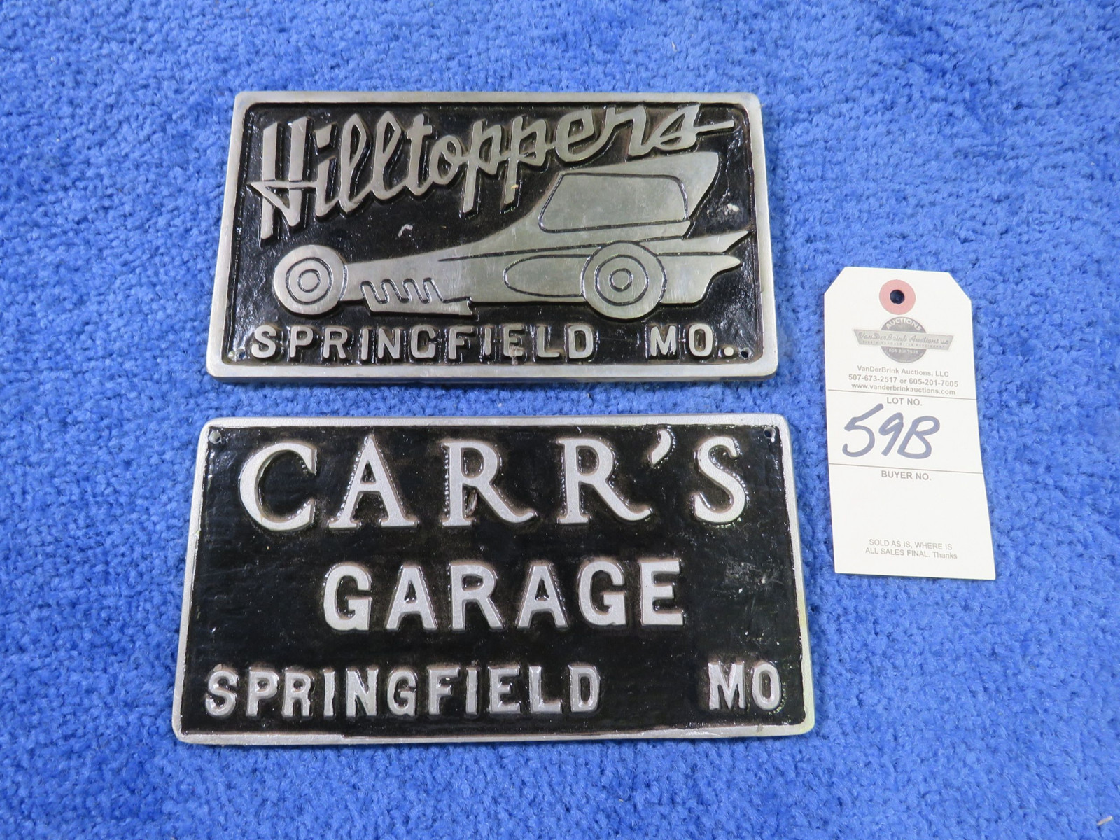 Hill Toppers and other Vintage Vehicle Club Plates- Pot Metal - Image 1