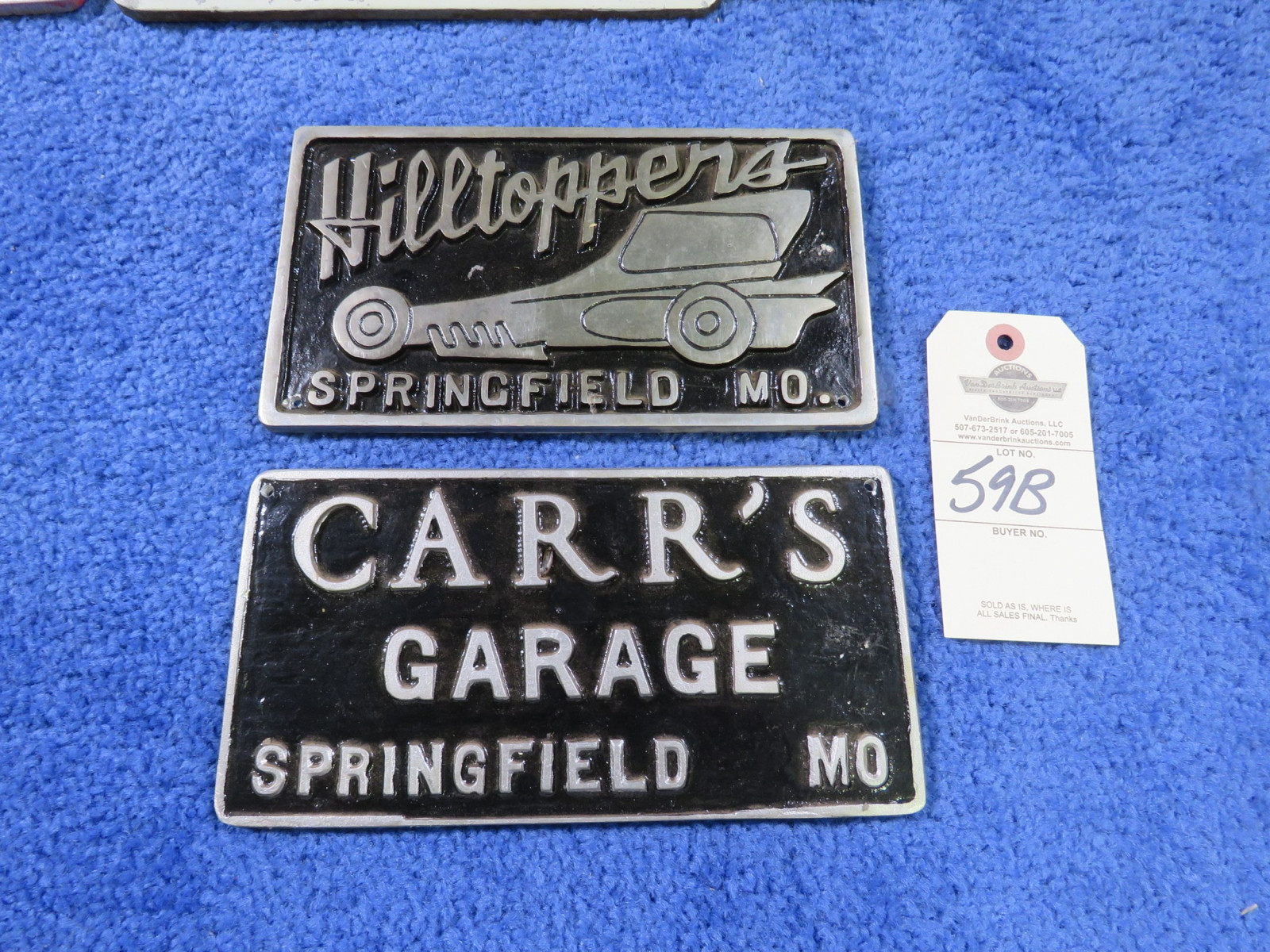 Hill Toppers and other Vintage Vehicle Club Plates- Pot Metal - Image 2