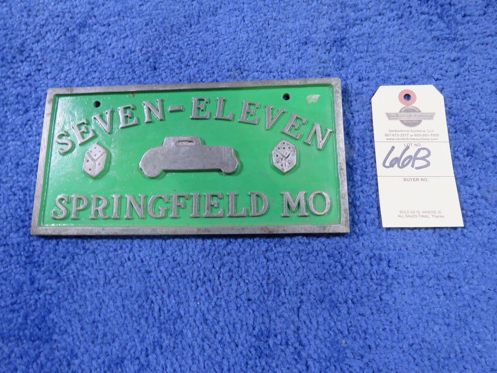 7-11 Vintage Vehicle Club Plate from Springfield, MO- Pot Metal - Image 1