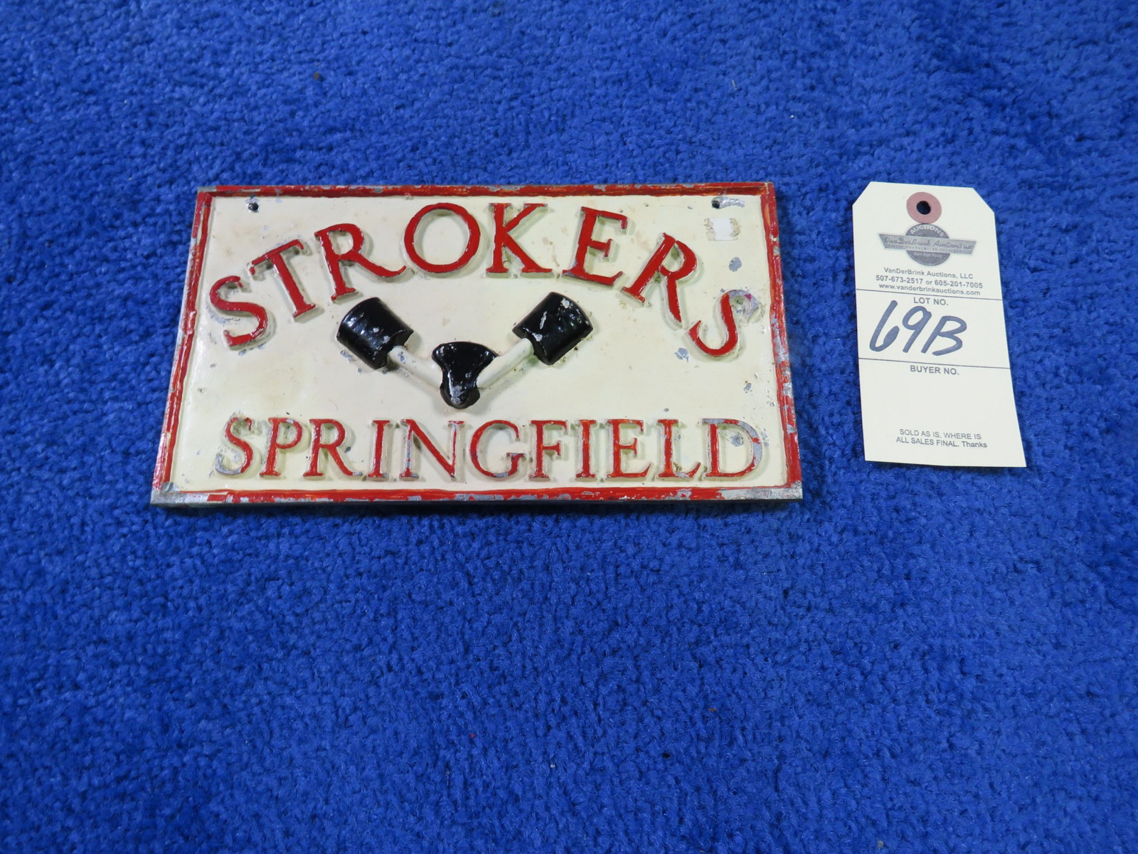 Strokers Vintage Vehicle Club Plate from Springfield, MO- Pot Metal - Image 2