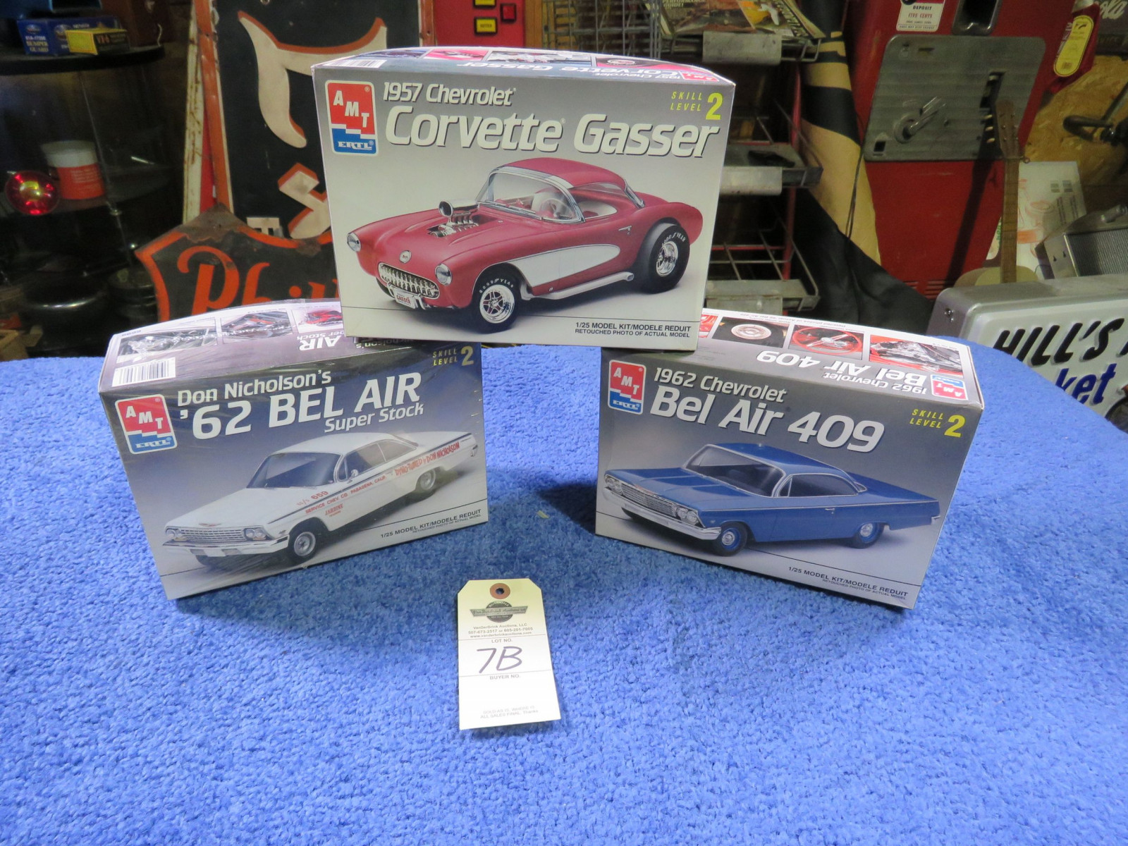 AMT Chevrolet 162 Belair and 1957 Chevrolet Corvette Models - Image 1