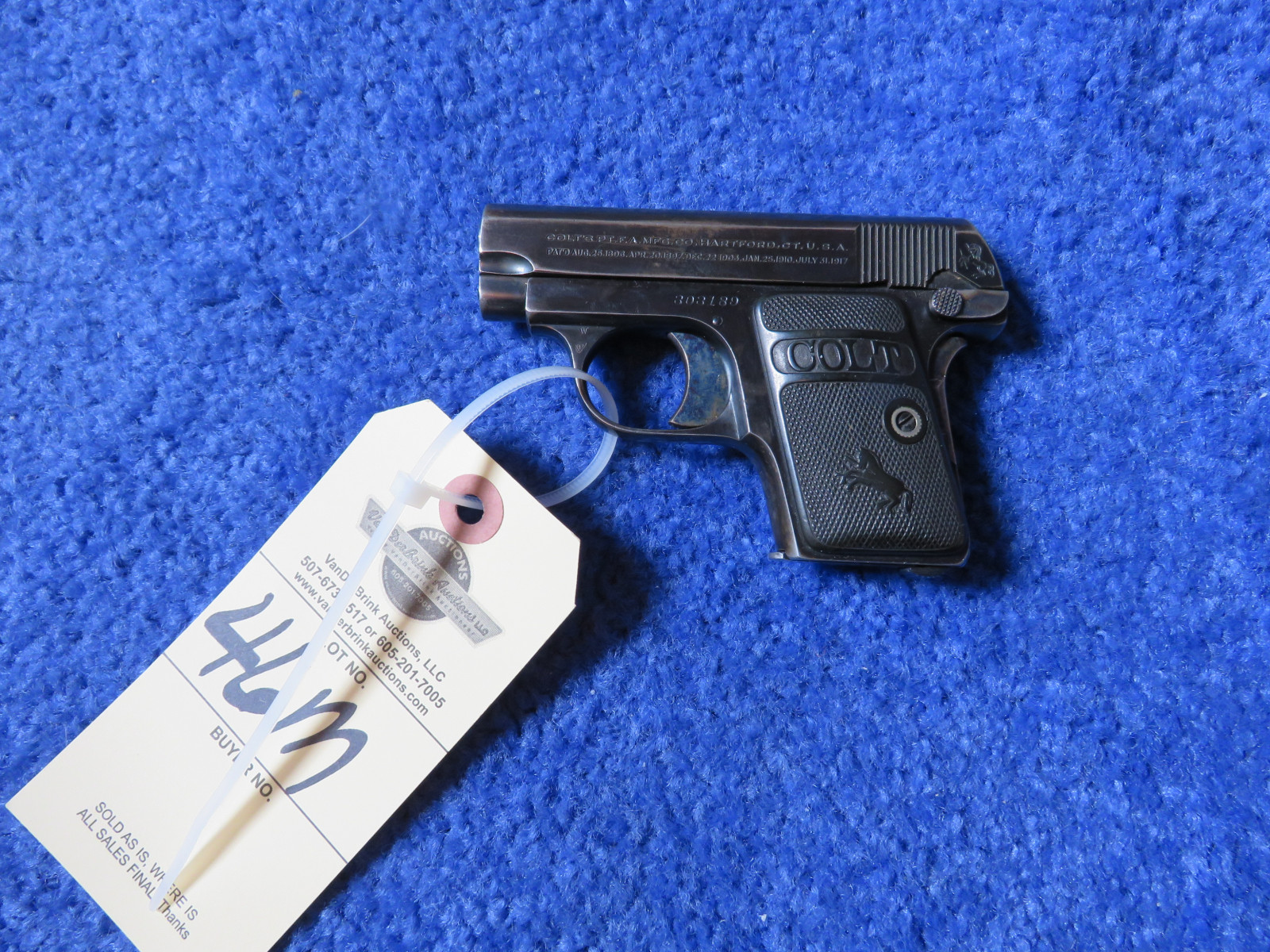 Colt Model 1908 Auto .25 Caliber Vest Pocket Pistol-Handgun - Image 2