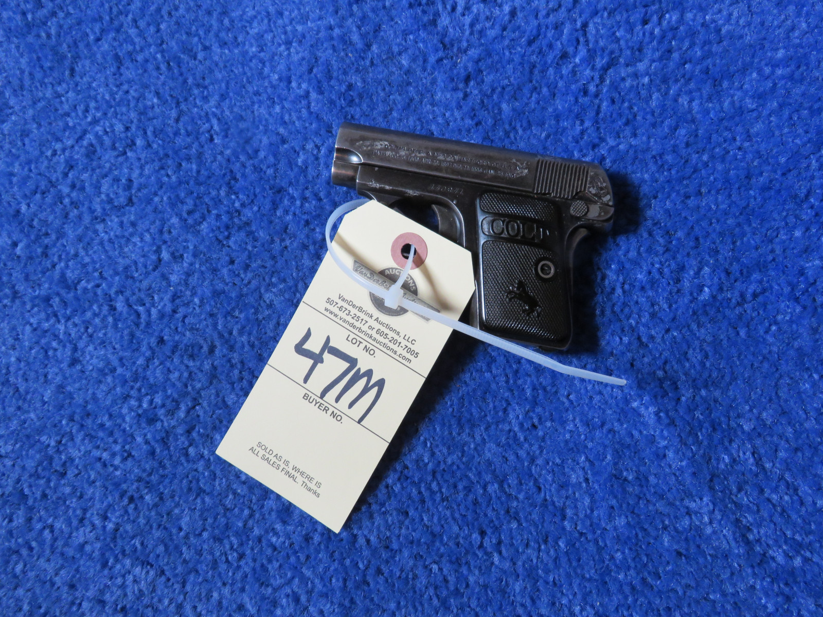 Colt Model 1908 Auto .25 Caliber Vest Pocket Pistol-Handgun - Image 3