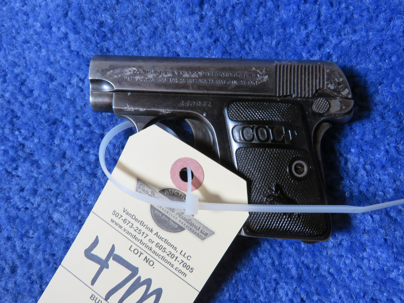 Colt Model 1908 Auto .25 Caliber Vest Pocket Pistol-Handgun - Image 4