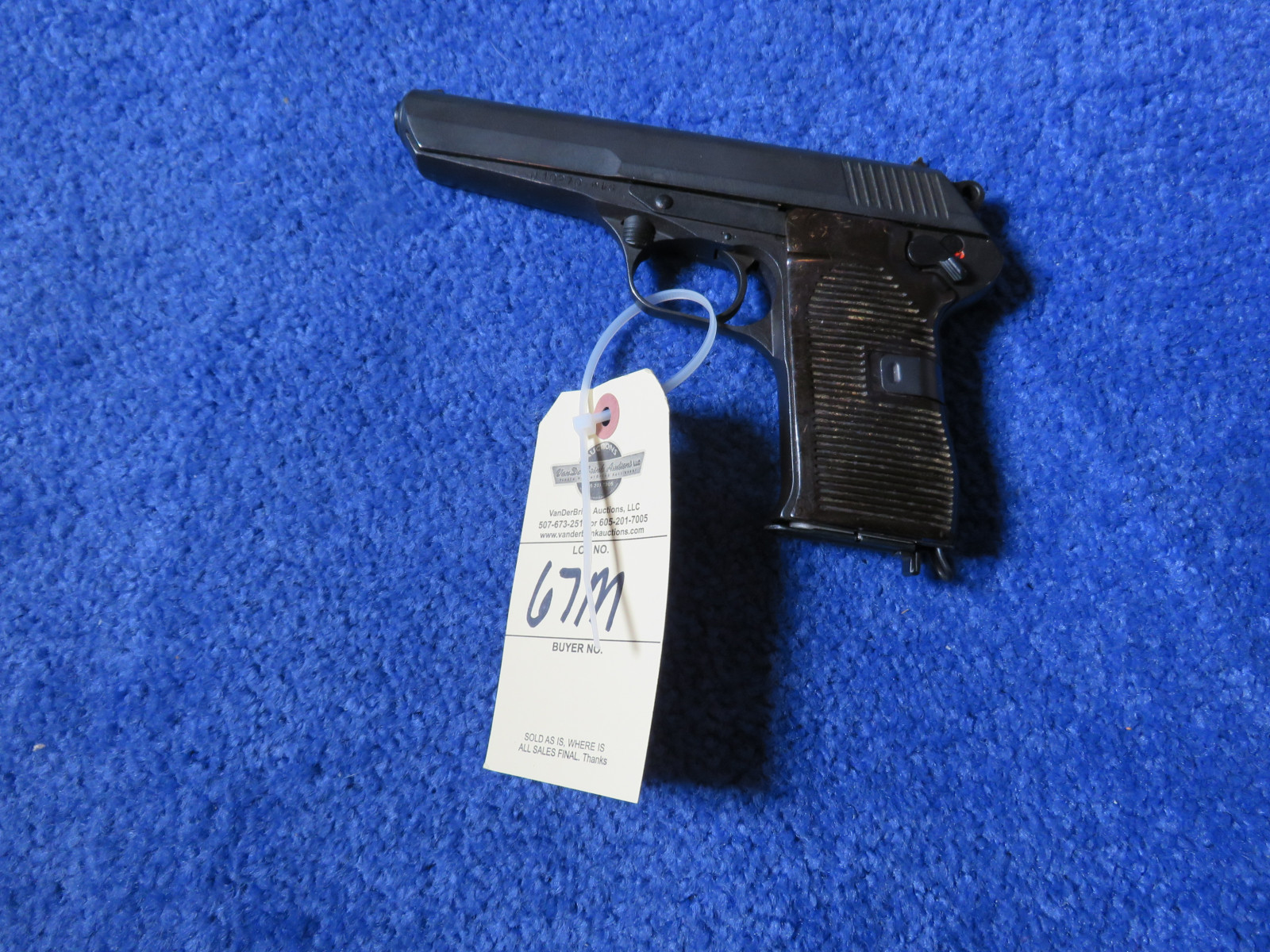 CZECH Republic 7.62x25 Semi Auto Handgun - Image 1
