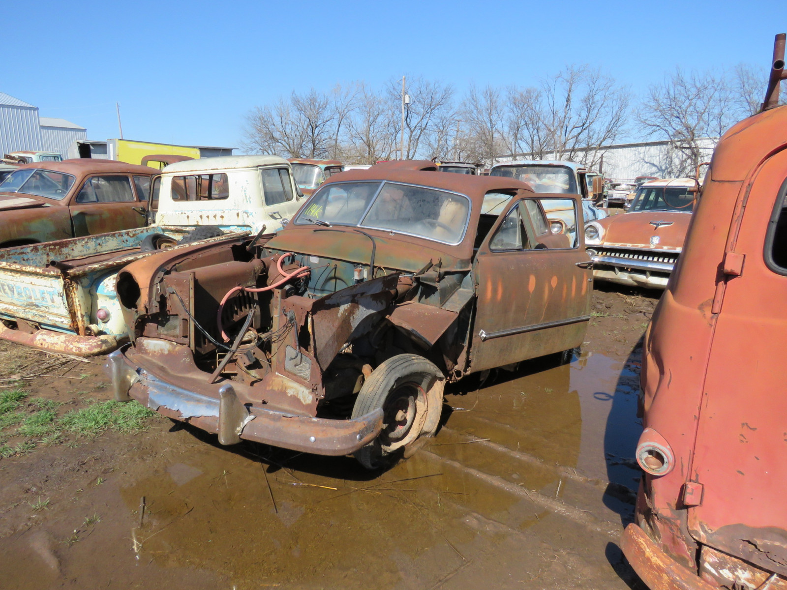 1950 Ford 2dr Sedan for Parts - Image 2