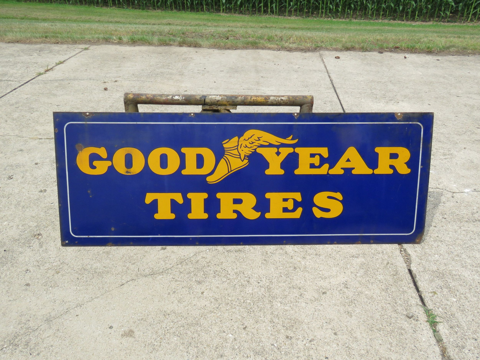 Goodyear Tires DS Porcelain Sign - Image 1