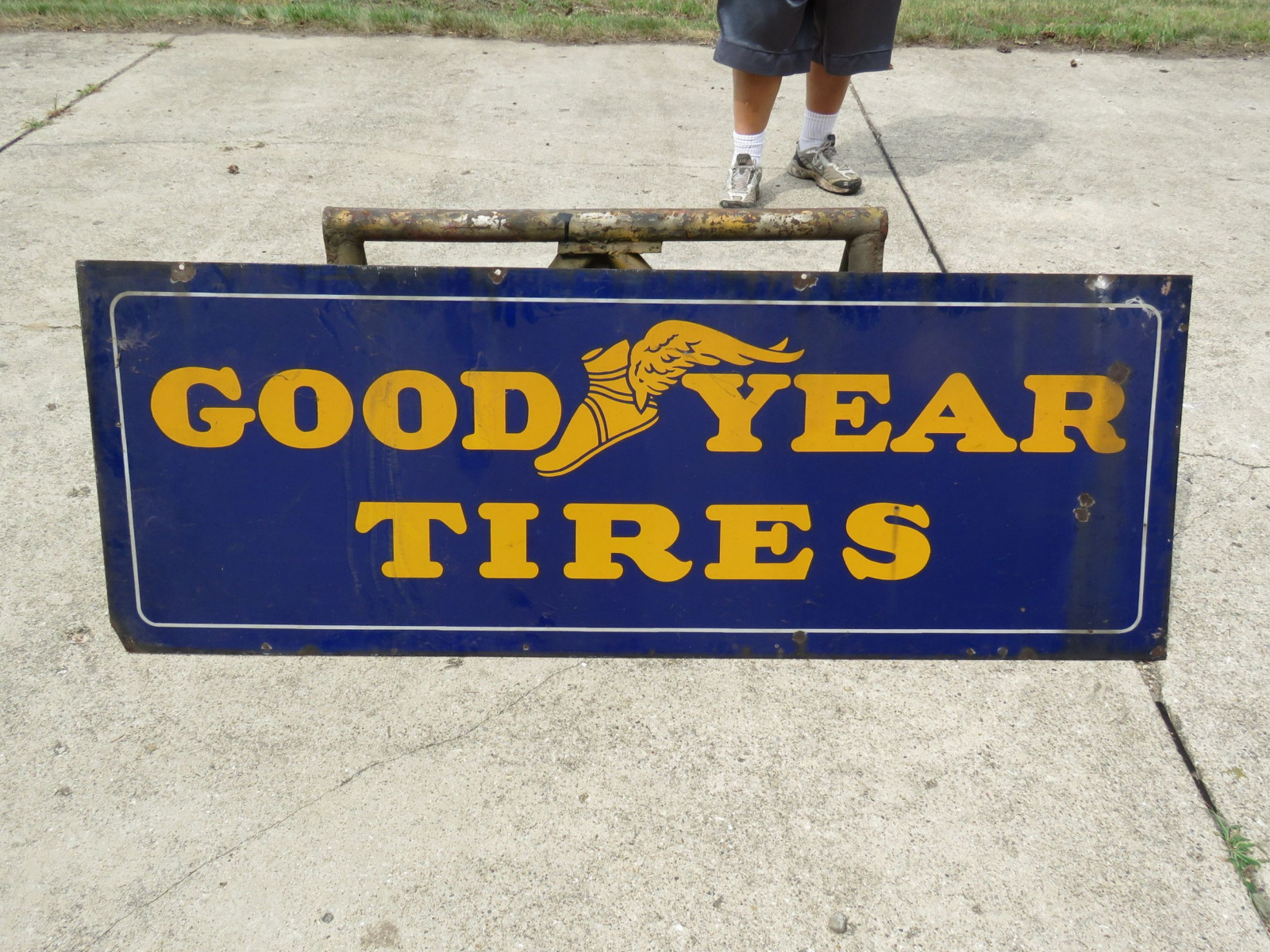 Goodyear Tires DS Porcelain Sign - Image 3