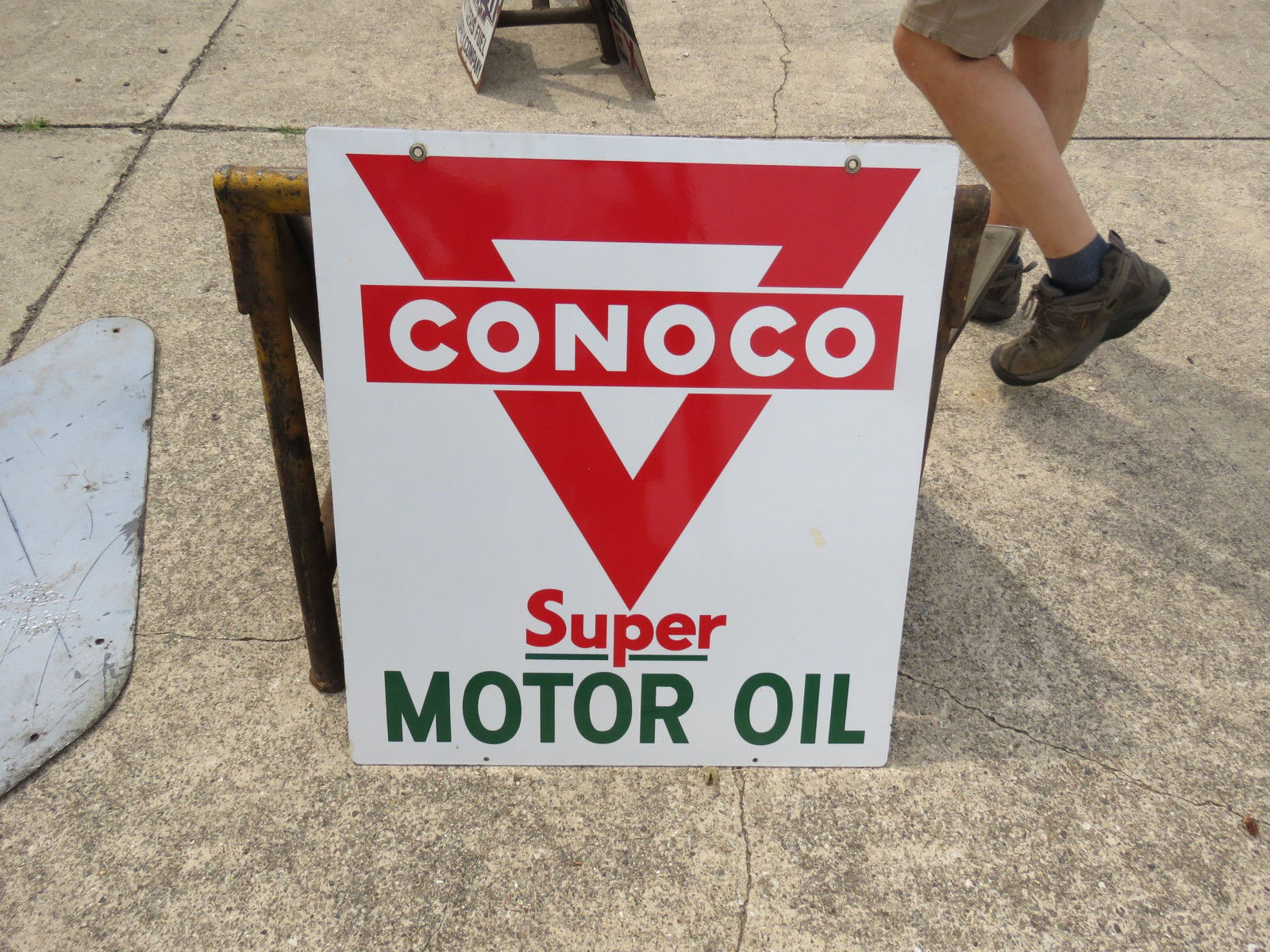 Conoco Super Motor Oil Porcelain sign - Image 1