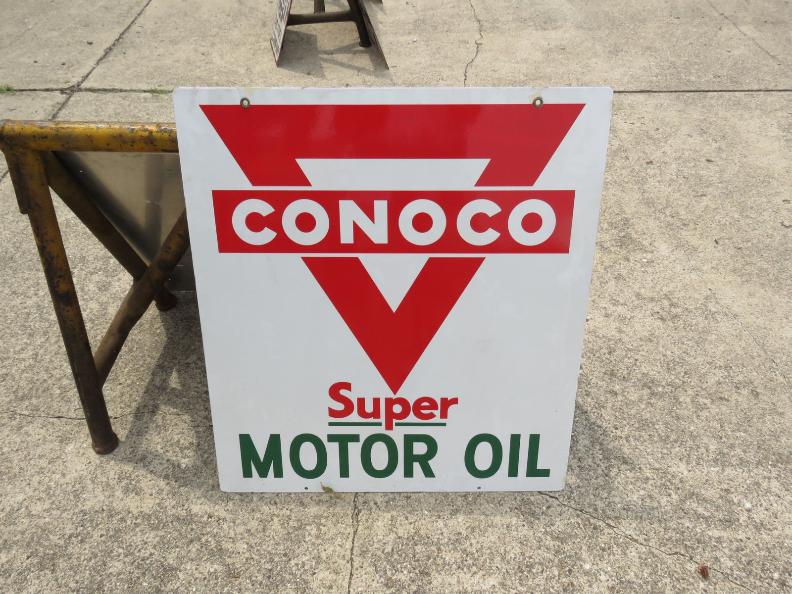 Conoco Super Motor Oil Porcelain sign - Image 2