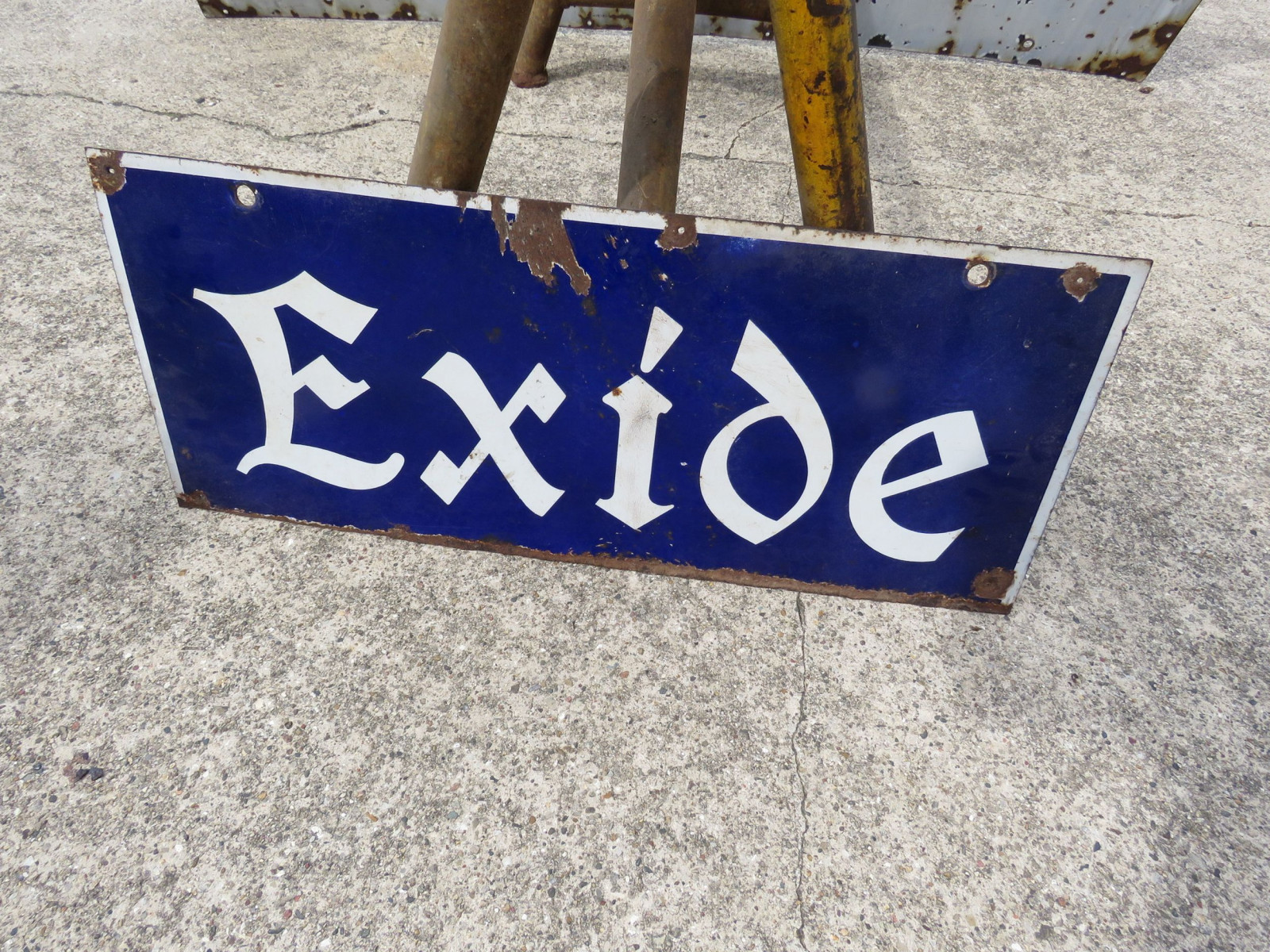 Excide DS Porcelain Sign - Image 2