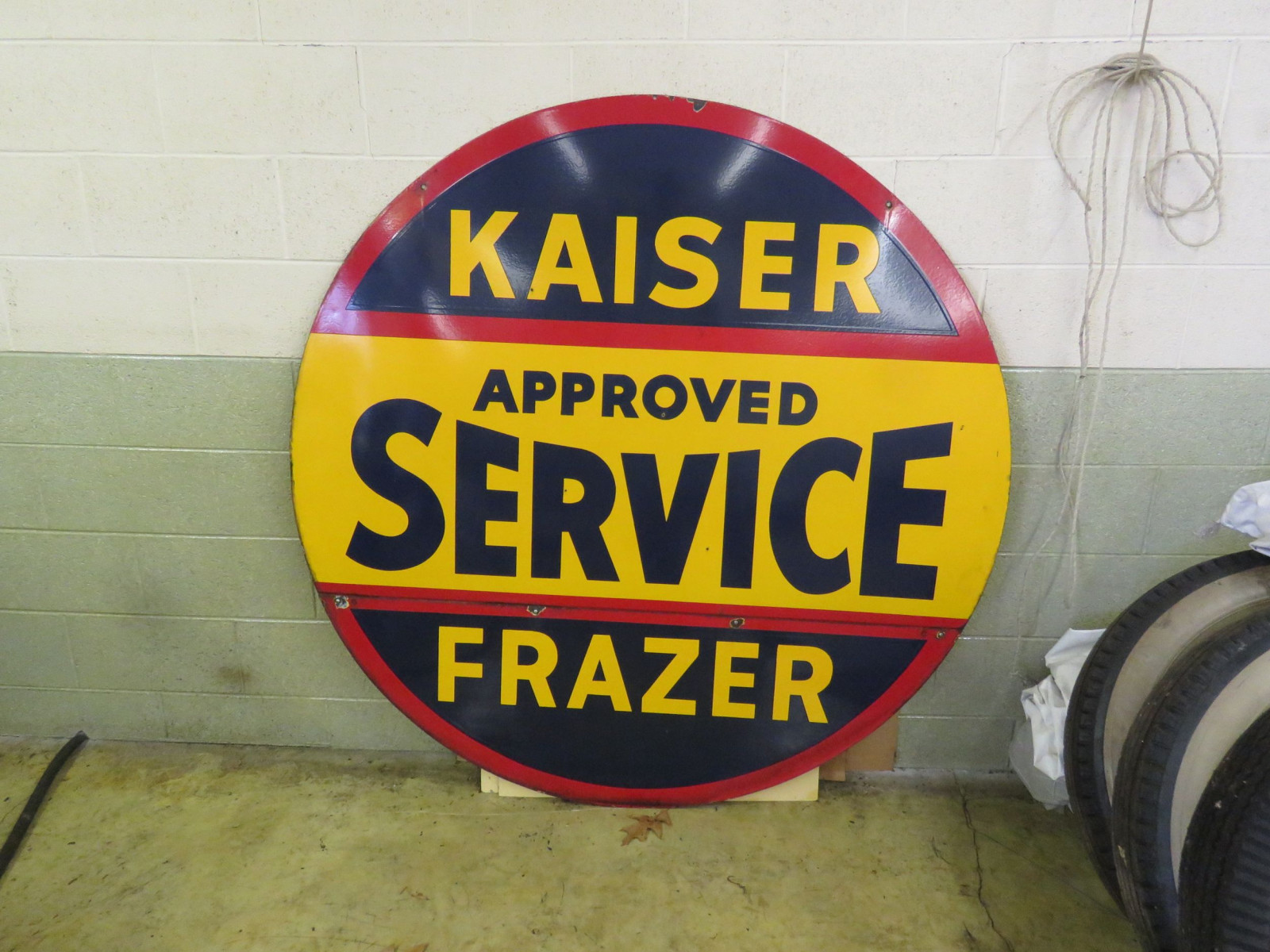 Kaiser-Frazer Approved Service Porcelain Sign - Image 1