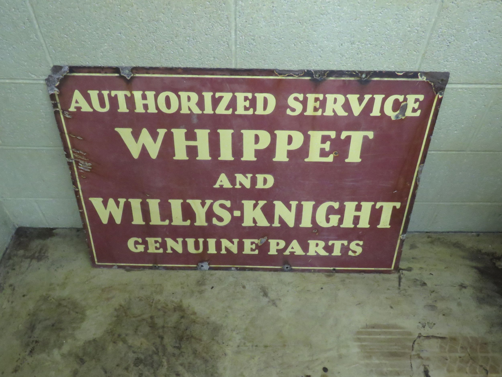 Whippett DS Porcelain Sign - Image 1