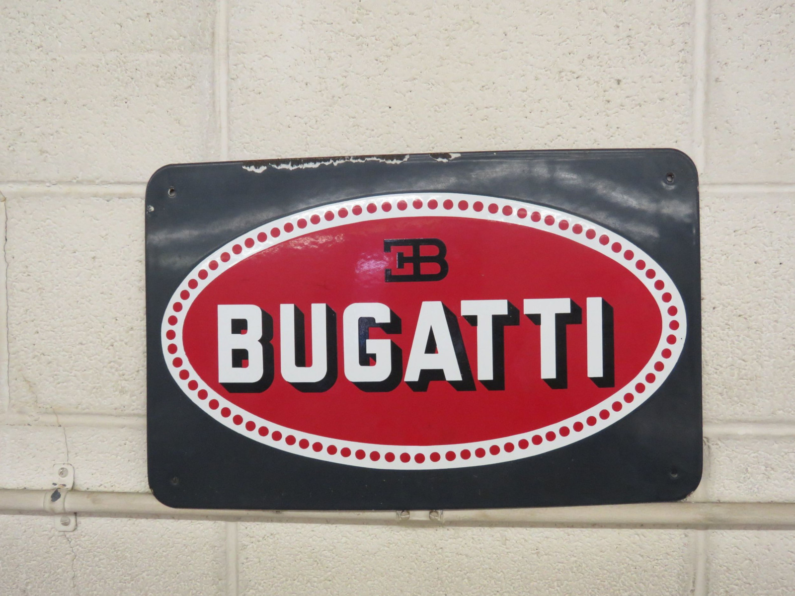 Bugatti Single Sided Porcelain Sign - Image 1