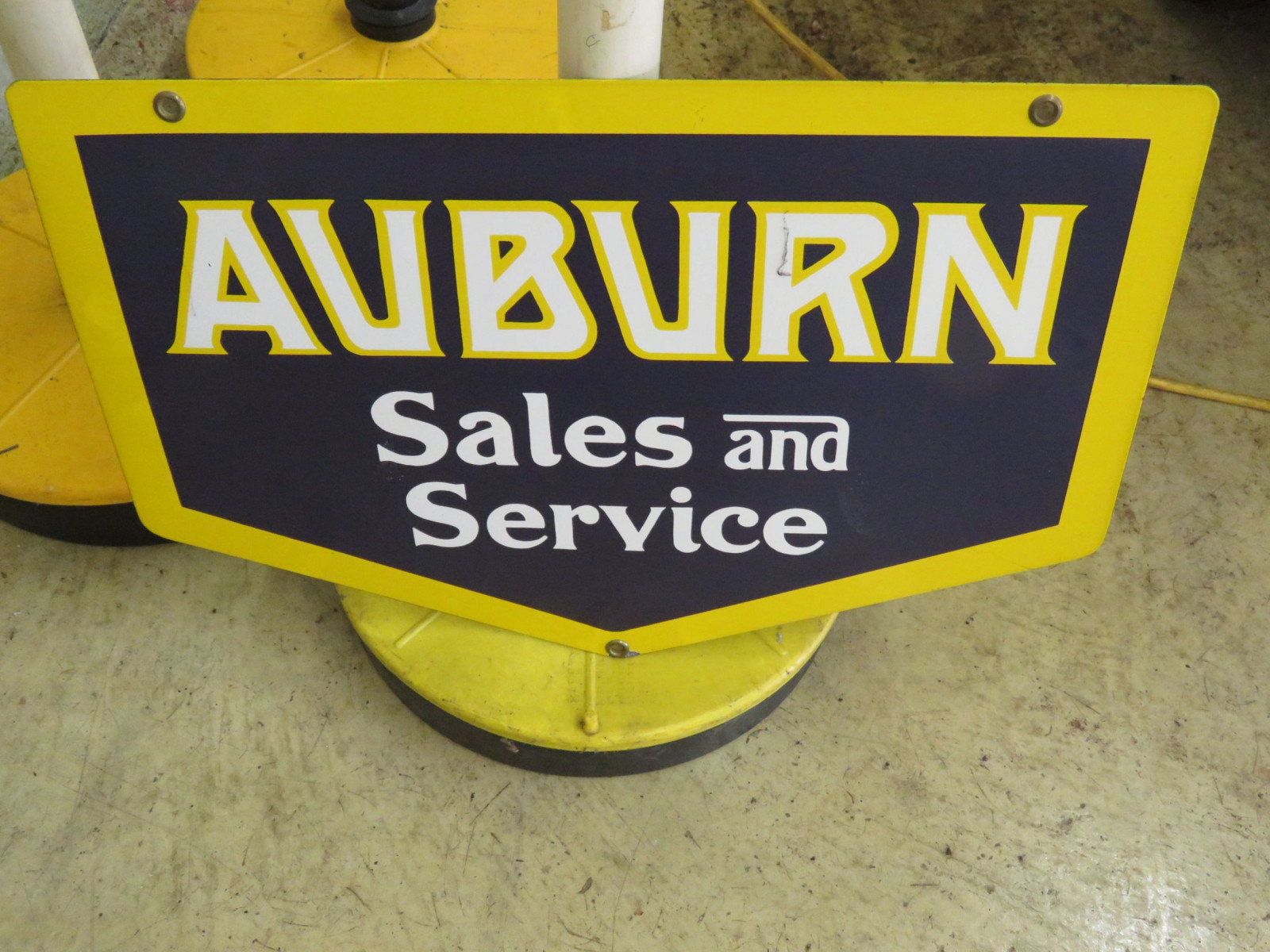 Auburn Sales and Service Porcelain Sign - Image 1