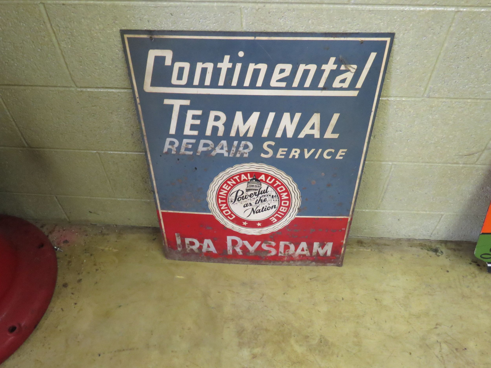 Continental Terminal Painted Tin Sign - Image 2