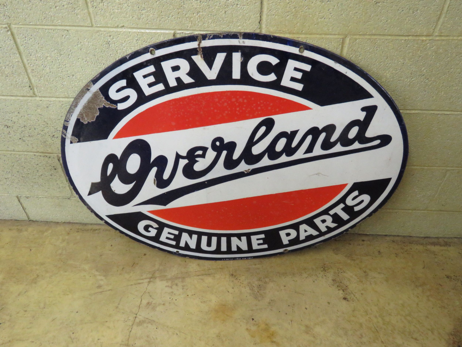 Overland Service & Genuine Parts Porcelain Sign - Image 3