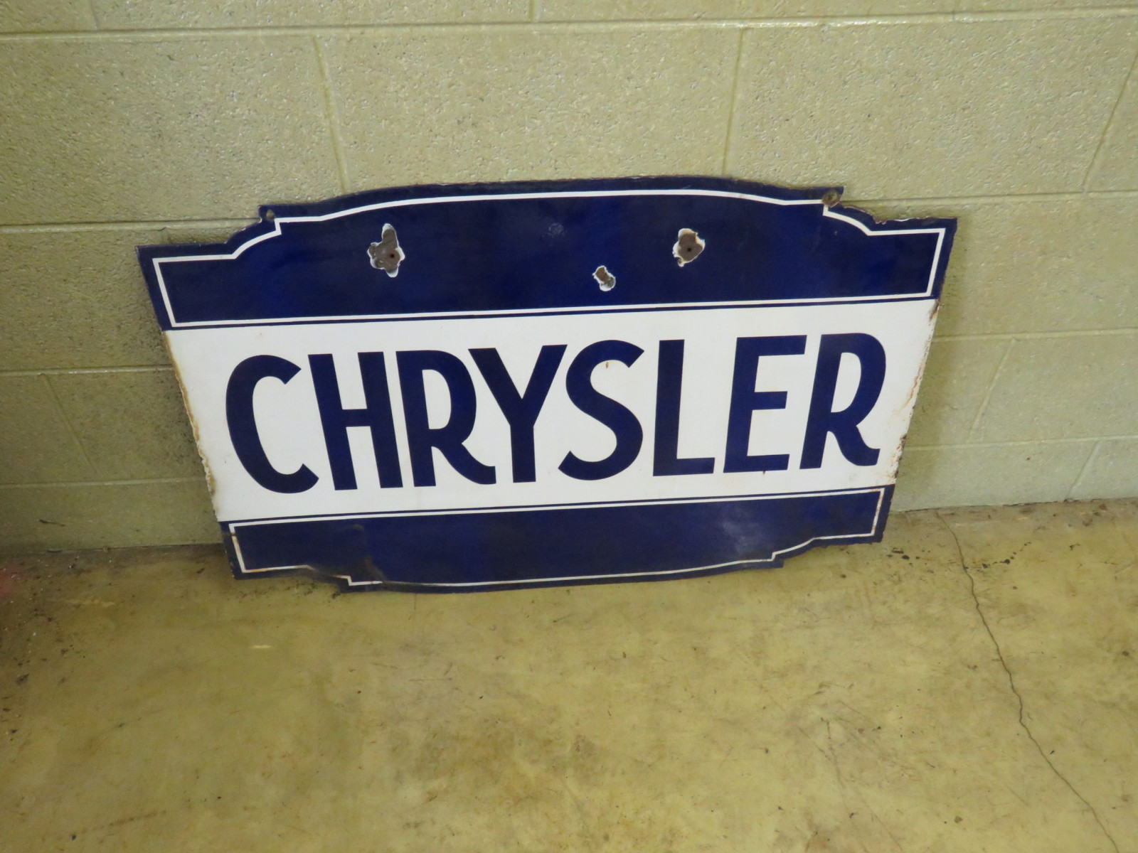 Chrysler Porcelain Sign - Image 1
