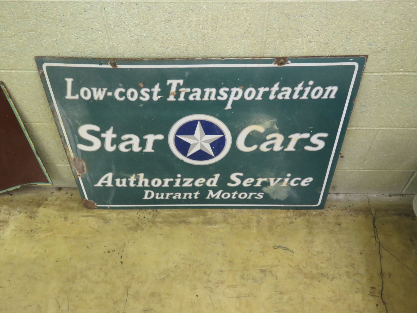 Star Cars-Durant Cars Porcelain Sign - Image 1