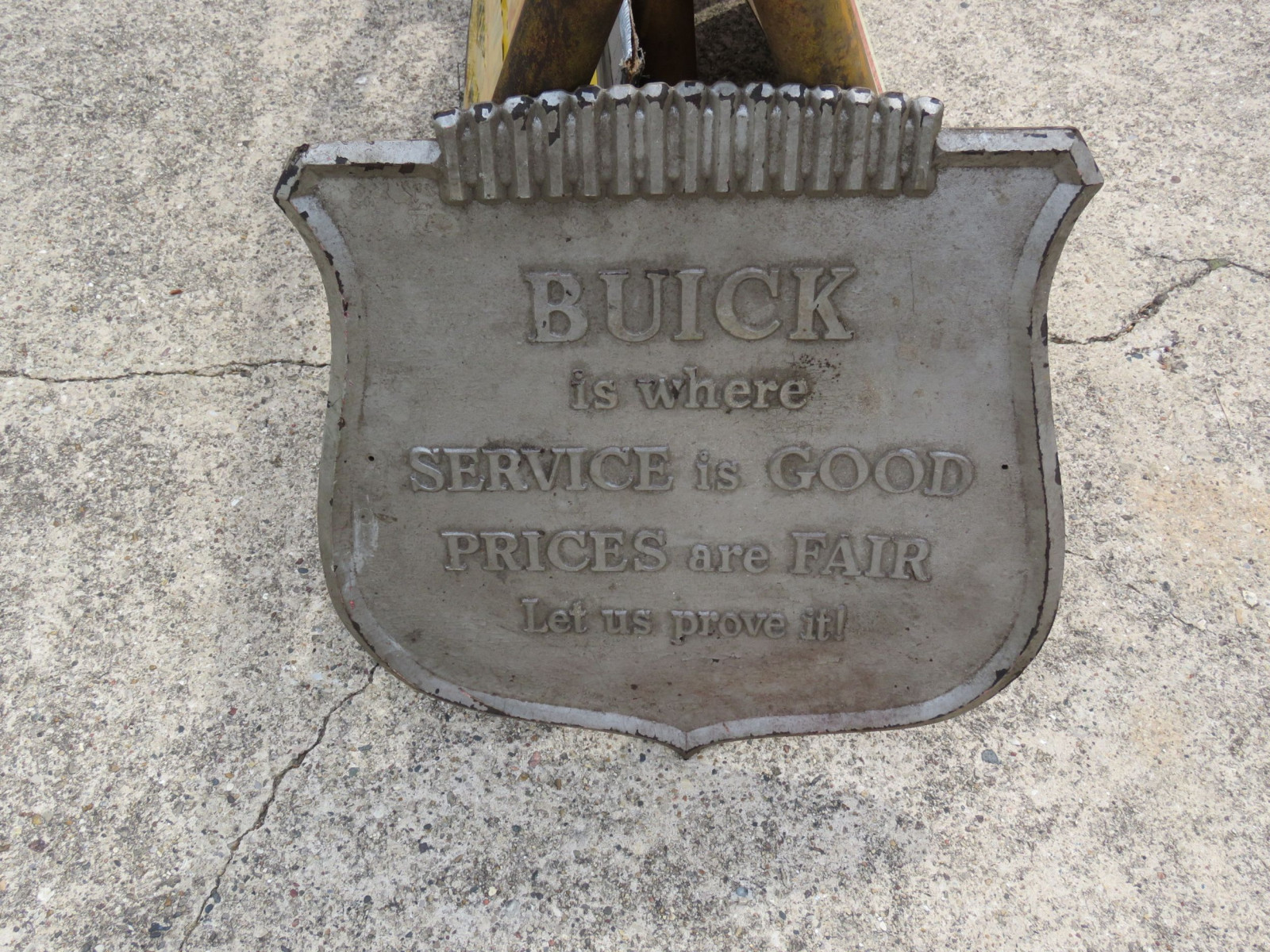 Buick Service Pressed Board Emblem Sign - Image 1