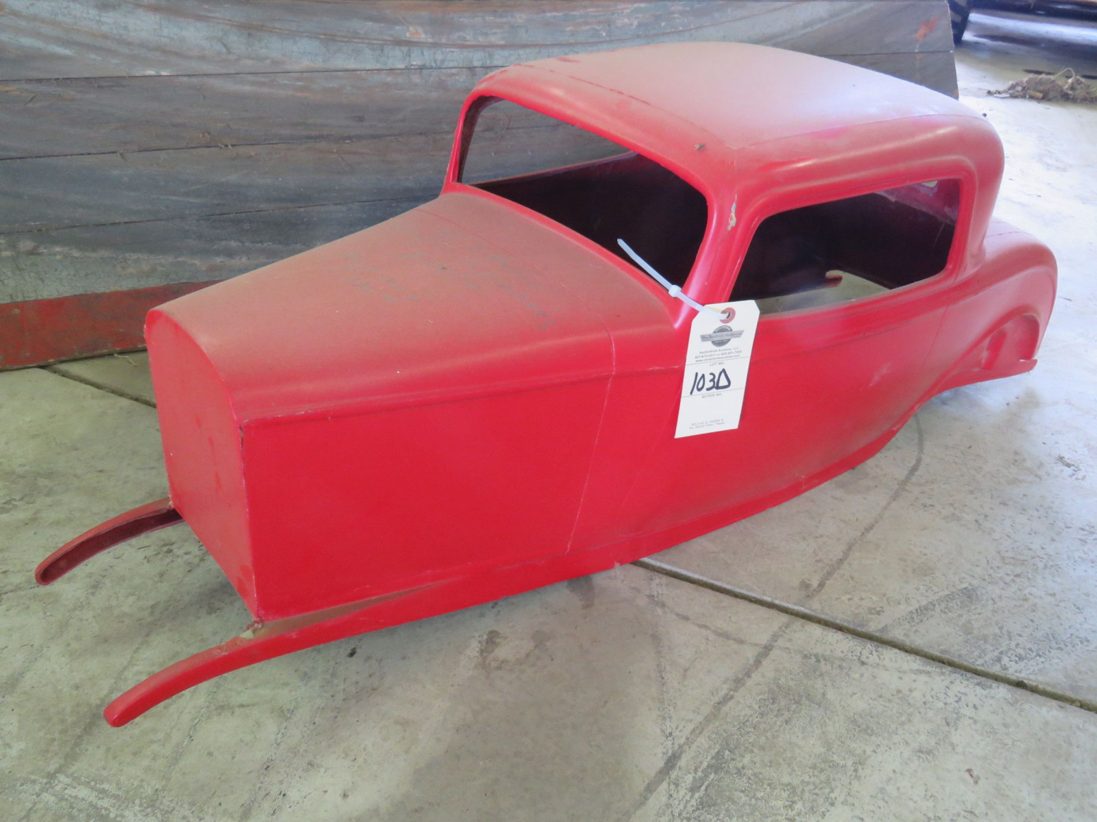 Fiberglass 1932 Ford Coupe Body for Pedal Car - Image 1