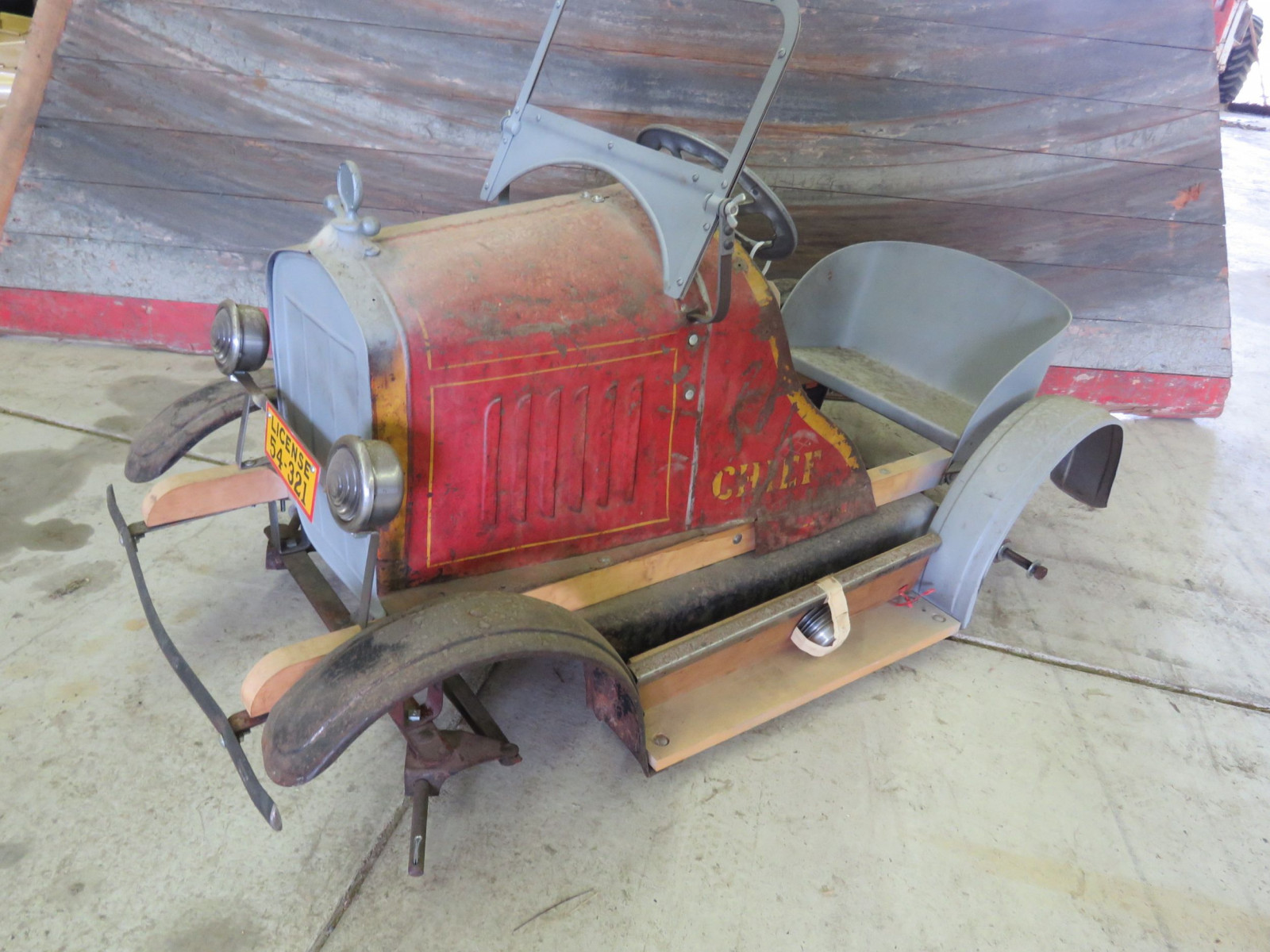 Rare SteelCraft Fire chief Pedal Car Project - Image 1