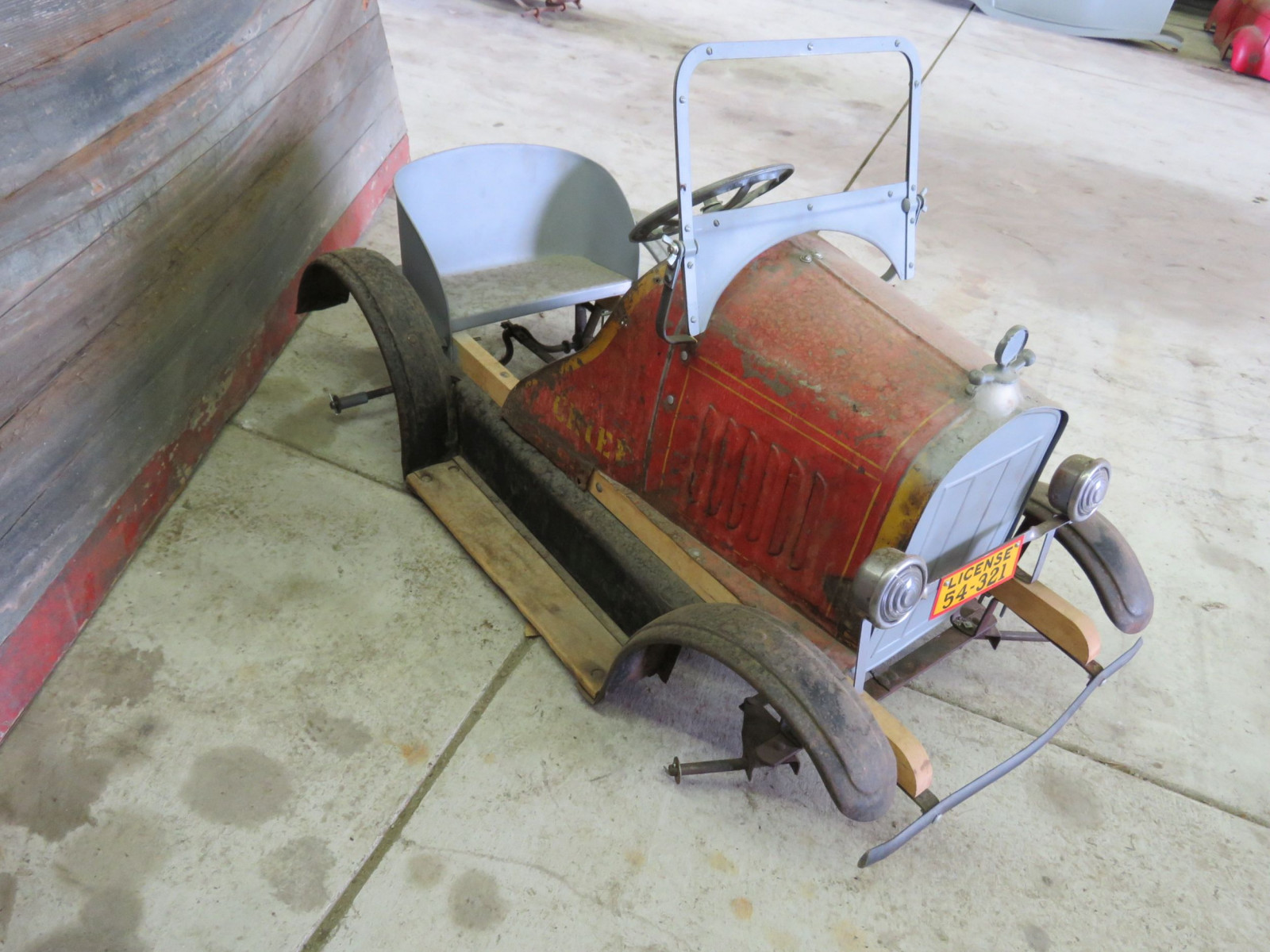 Rare SteelCraft Fire chief Pedal Car Project - Image 3