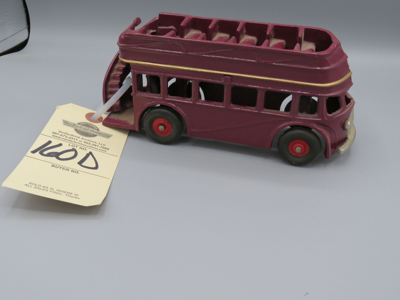 Arcade Double Decker Bus @1939 Approx. 8 inches - Image 1