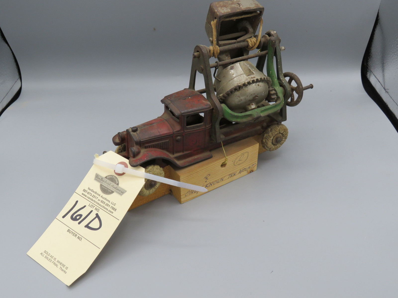 Kenton Cast Iron Toy Truck with Mixer Approx. 8 inches - Image 2