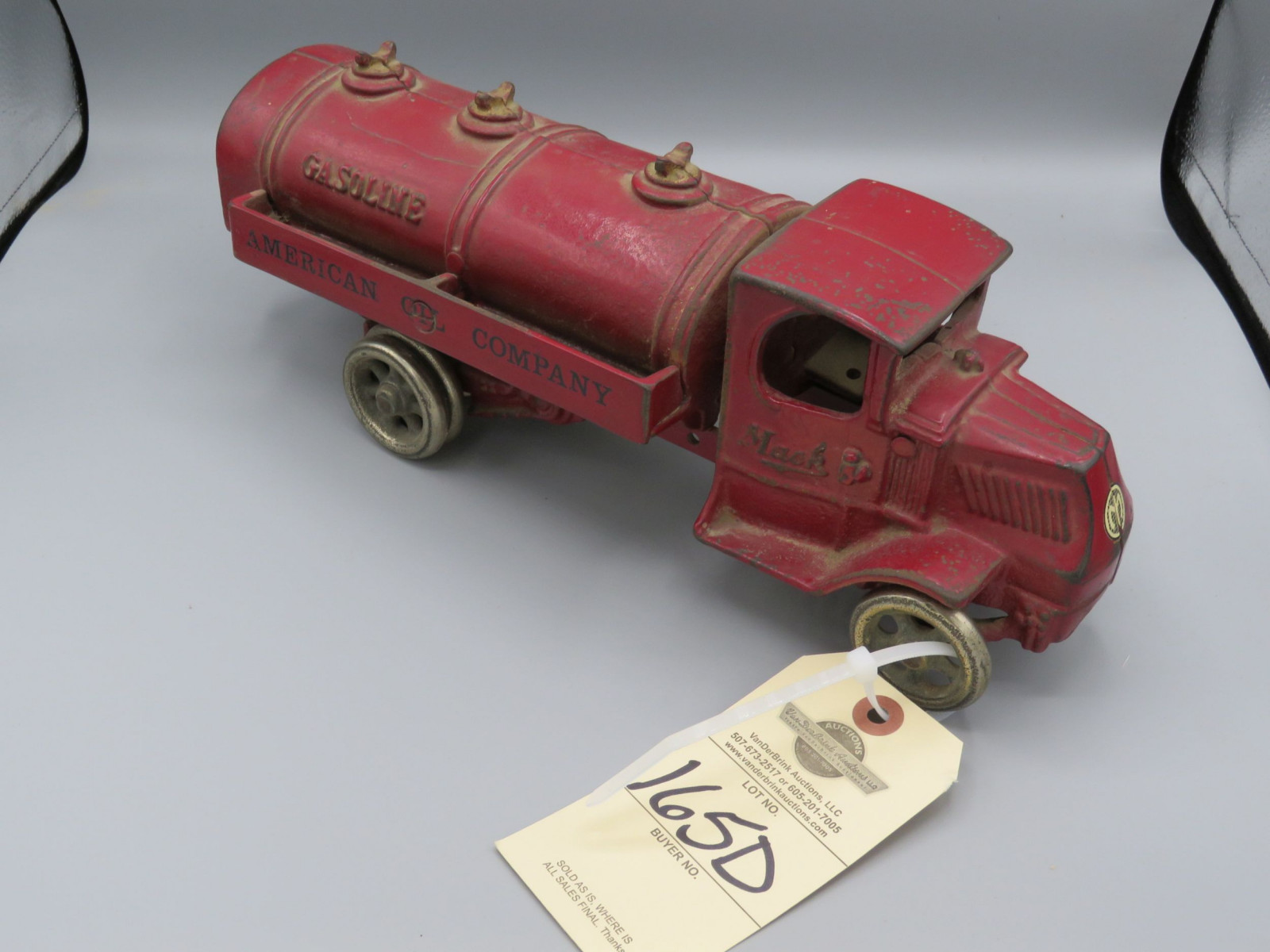Cast Iron Mack Truck Tanker @1925 Approx. 13 1/4 inches poss. Arcade - Image 1