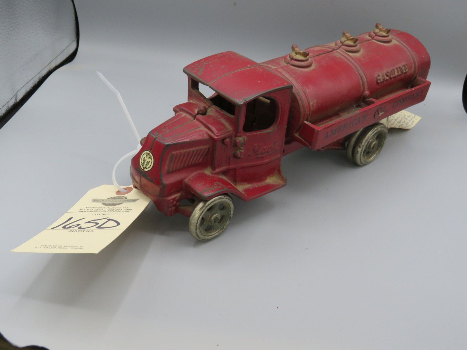 Cast Iron Mack Truck Tanker @1925 Approx. 13 1/4 inches poss. Arcade - Image 2