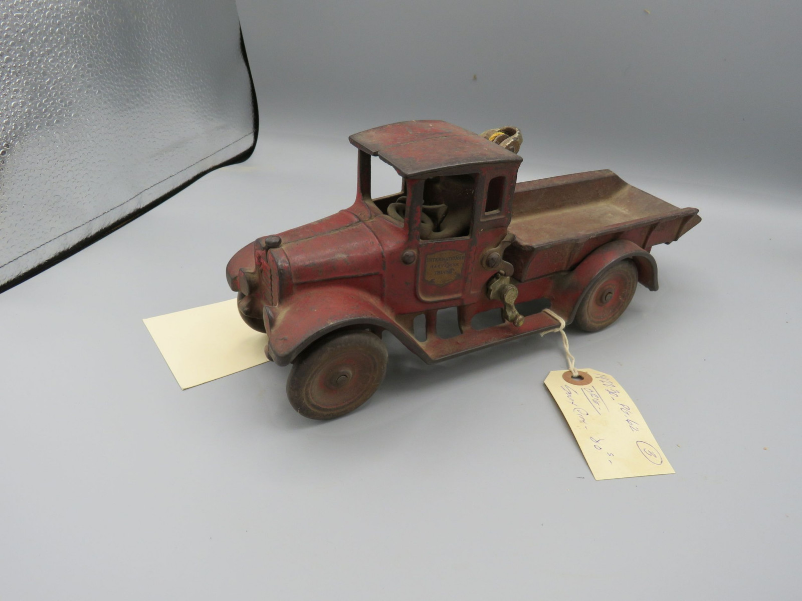 Arcade Cast Iron IH Truck with Man @1922-1930 Approx. 10 inches - Image 2