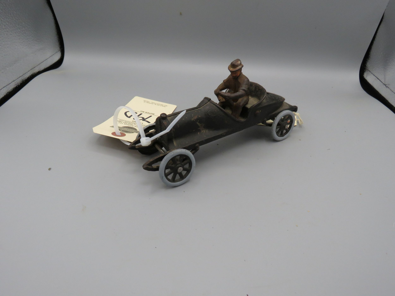 Cast Iron Vintage Race Car with Driver @1910-13 Approx. 4 inches - Image 2