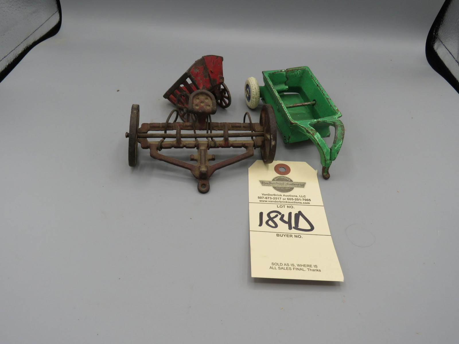Various Cast Iron Toy Implements Group of 3 - Image 1