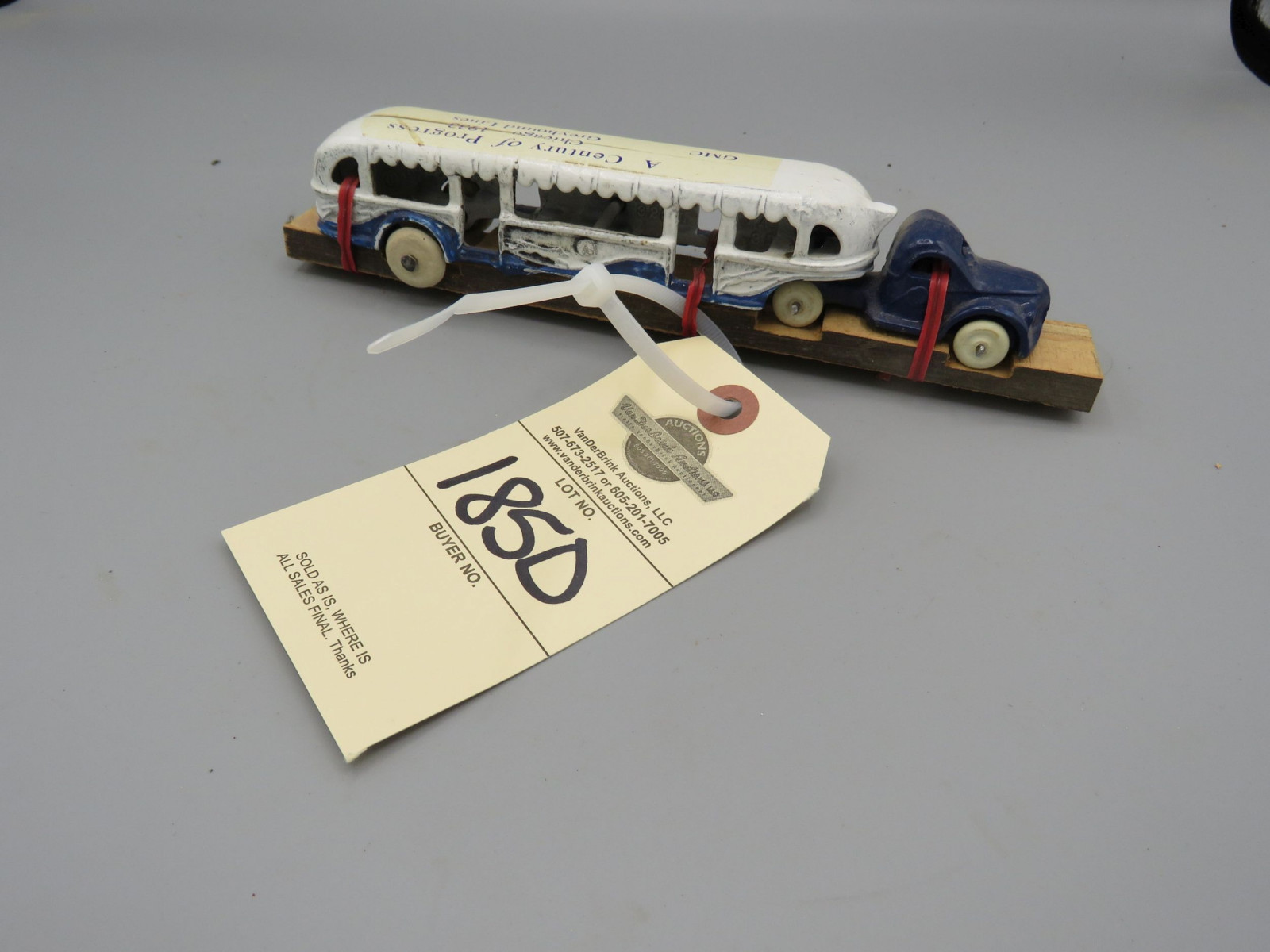 Arcade Cast Iron 1933 Chicago Worlds Fair Greyhound Touring Bus - Image 1