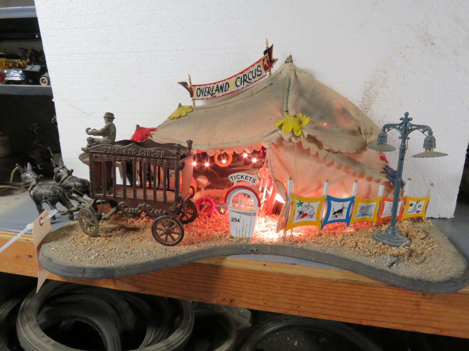 Circus Diorama with Vintage Cast Iron Toys - Image 1