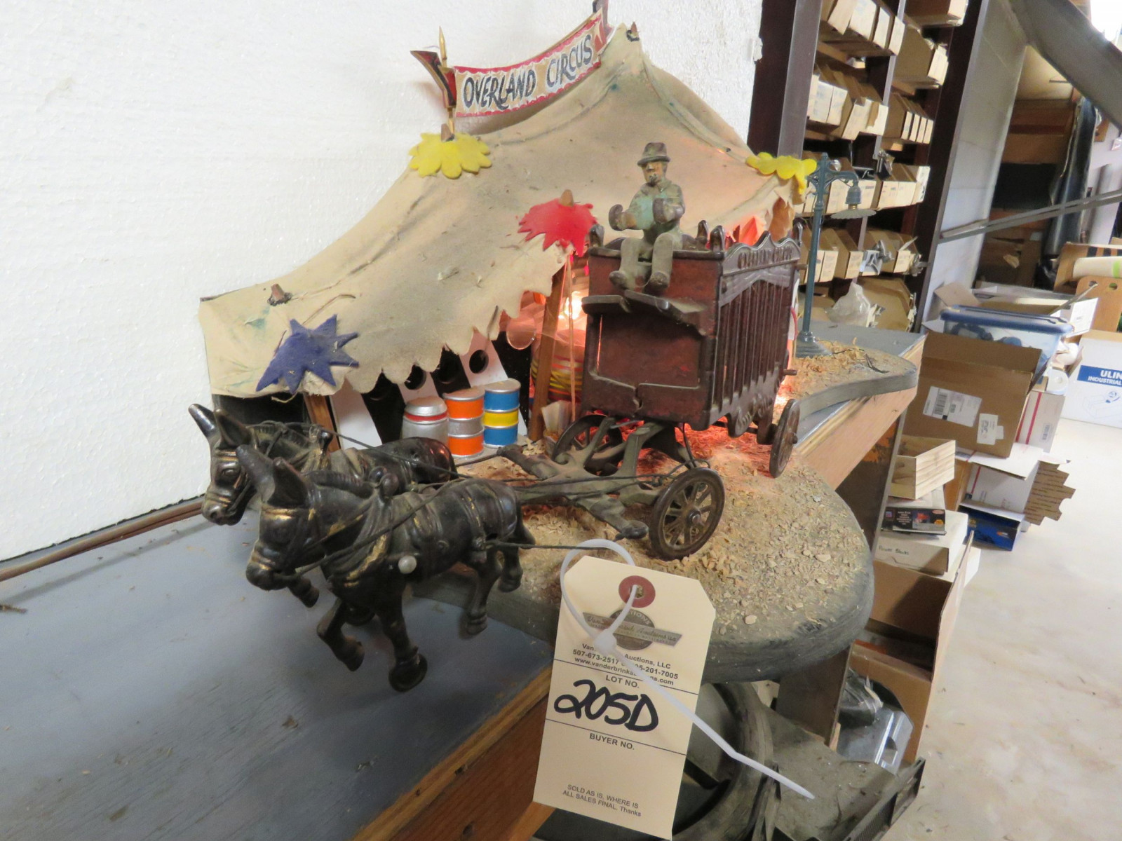 Circus Diorama with Vintage Cast Iron Toys - Image 3