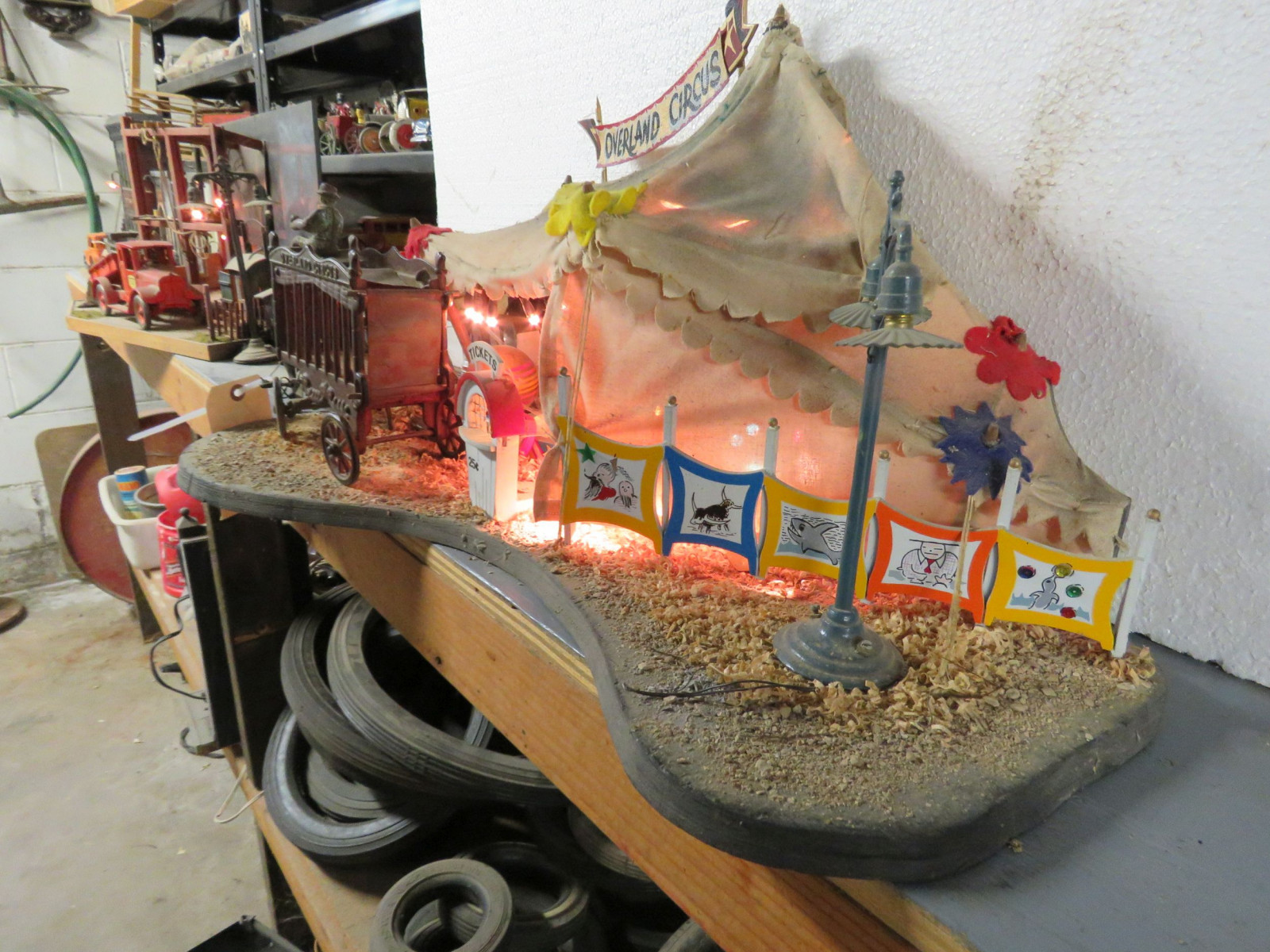 Circus Diorama with Vintage Cast Iron Toys - Image 4