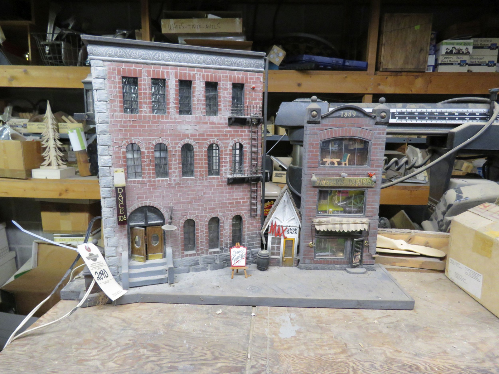 Street Scene Diorama with Vintage Cast Iron Toys - Image 1