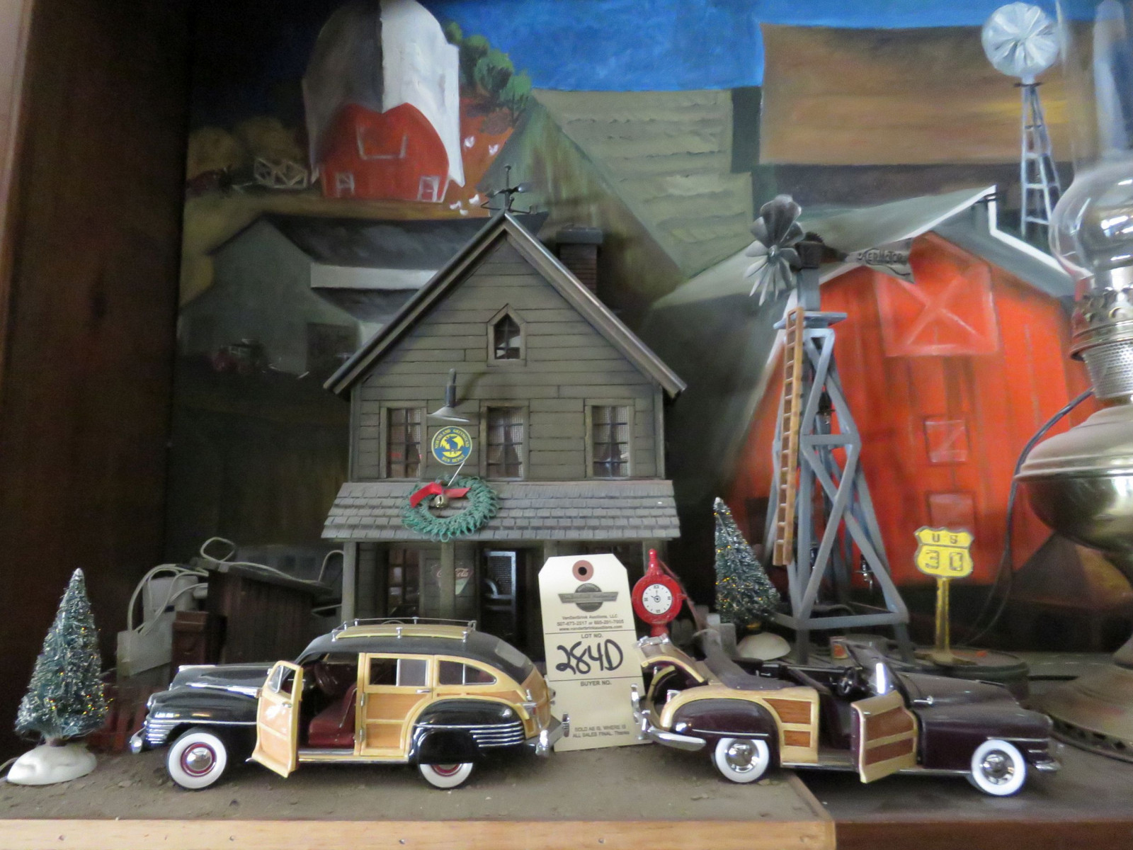 At the Lake Diorama with Vintage Cast Iron Toys - Image 1