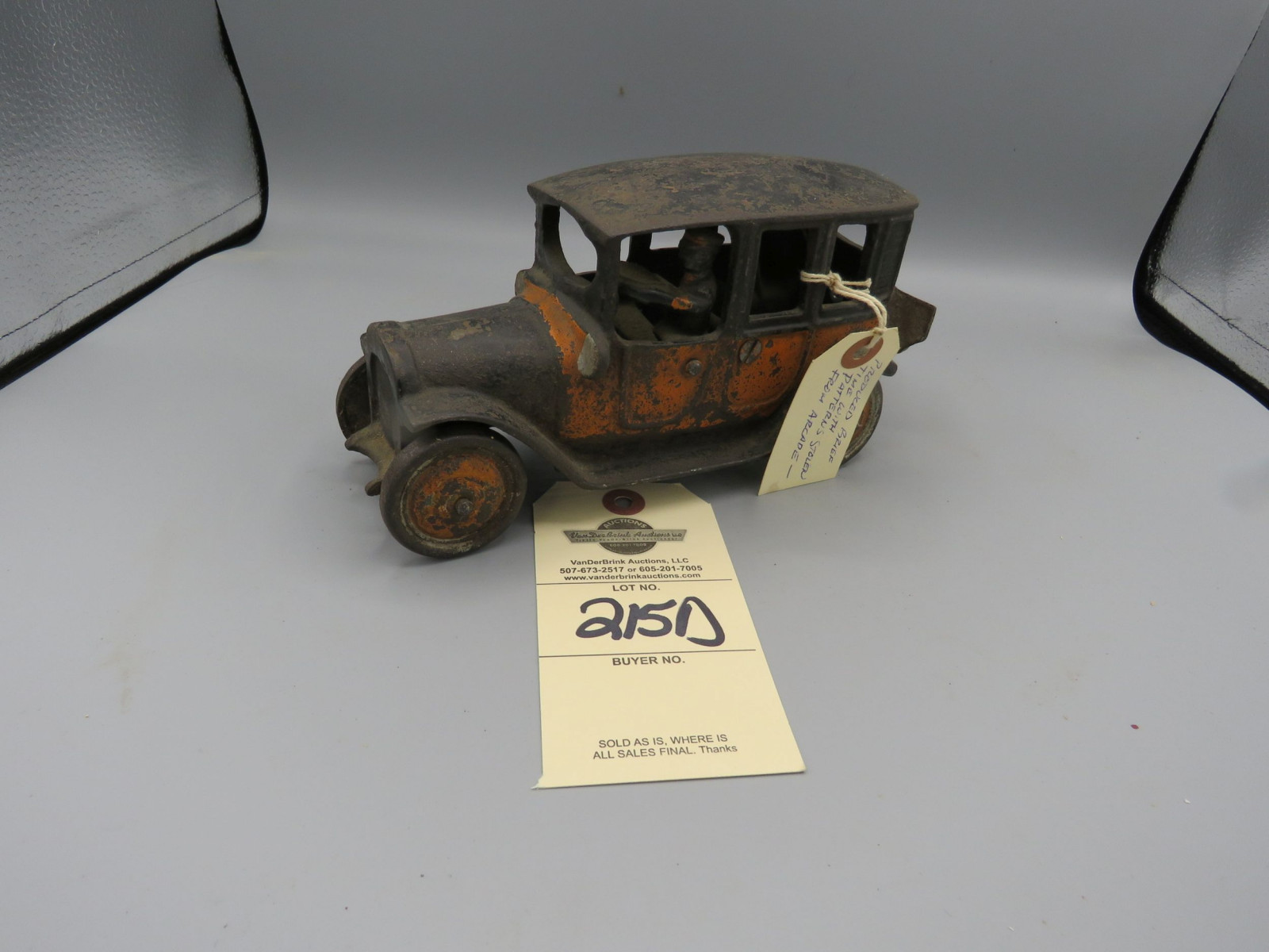 1920's Friedag Cast Iron Sedan believed to be limited production Approx. 8 inches - Image 1