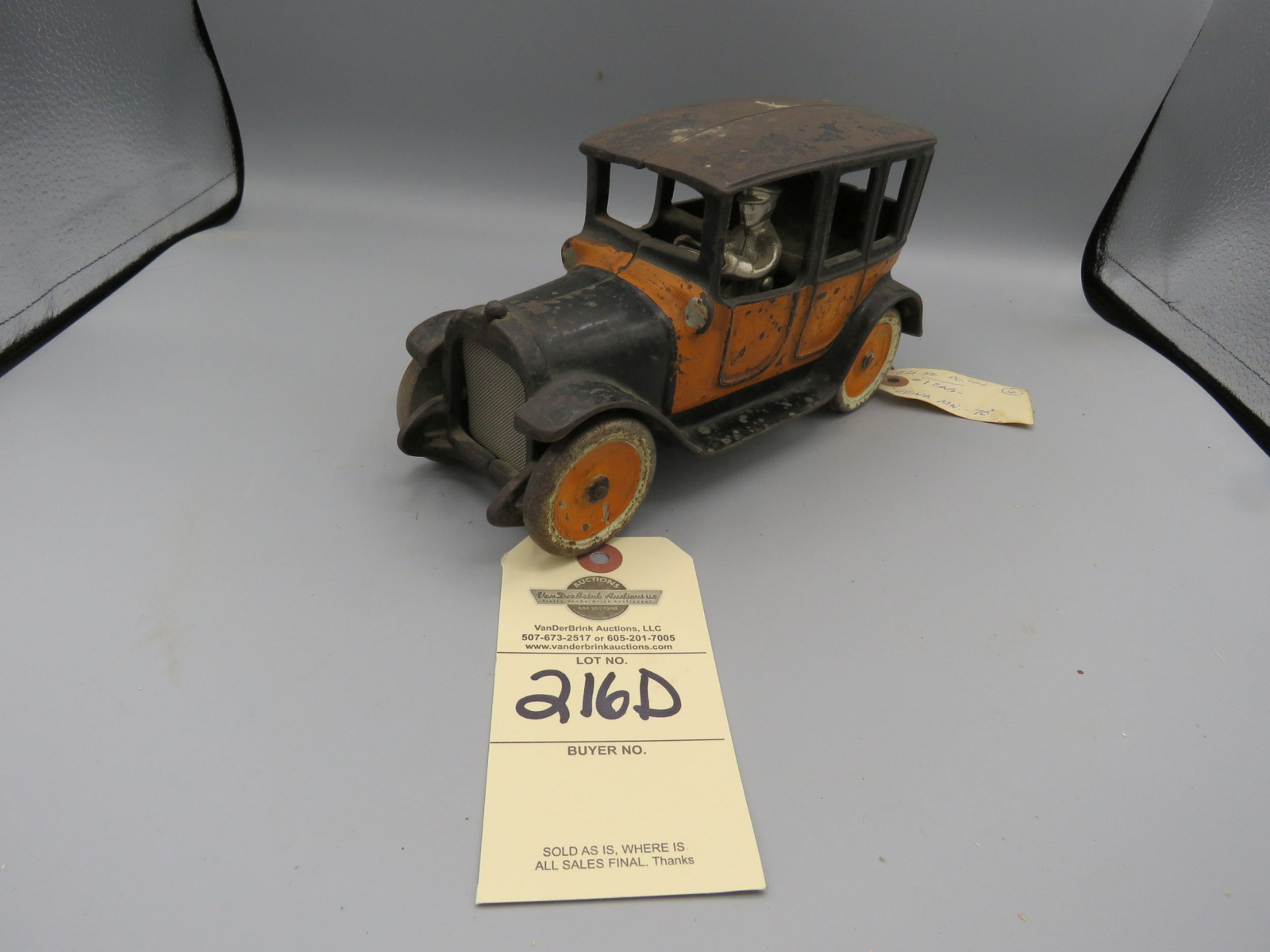 1920's Friedag Cast Iron Sedan believed to be limited production Approx. 8 inches - Image 2