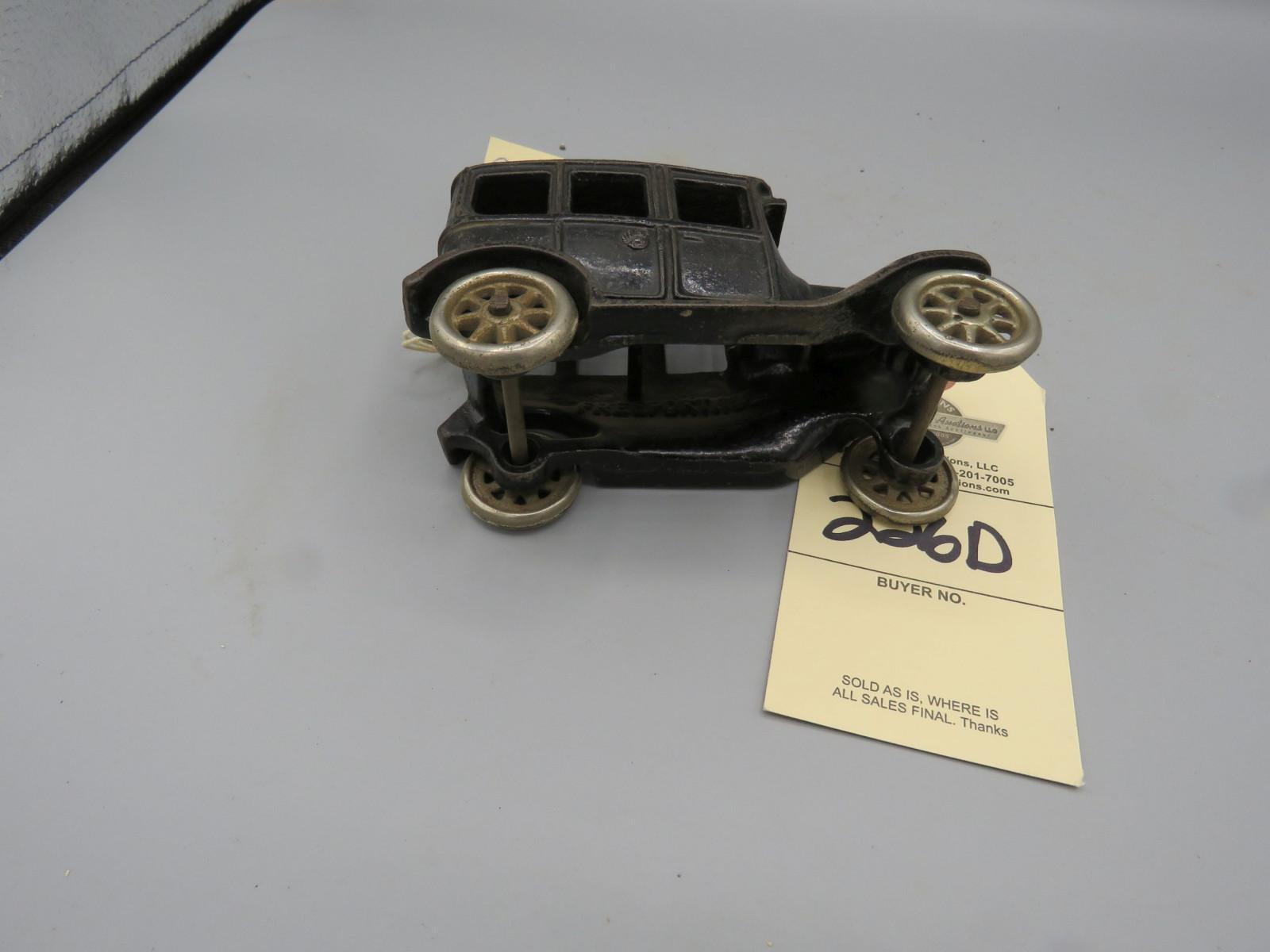 Arcade Cast Iron Sedan @1924 Approx. 6 inches - Image 3