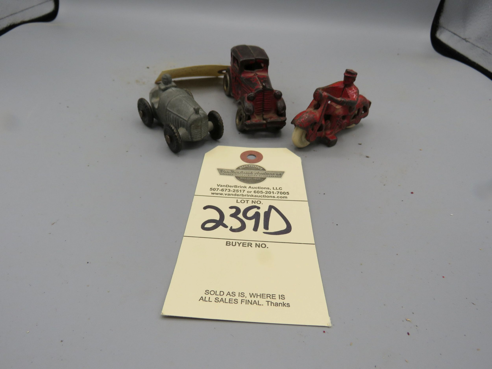 Group of 3 Vintage Cast Iron Toys - Image 1