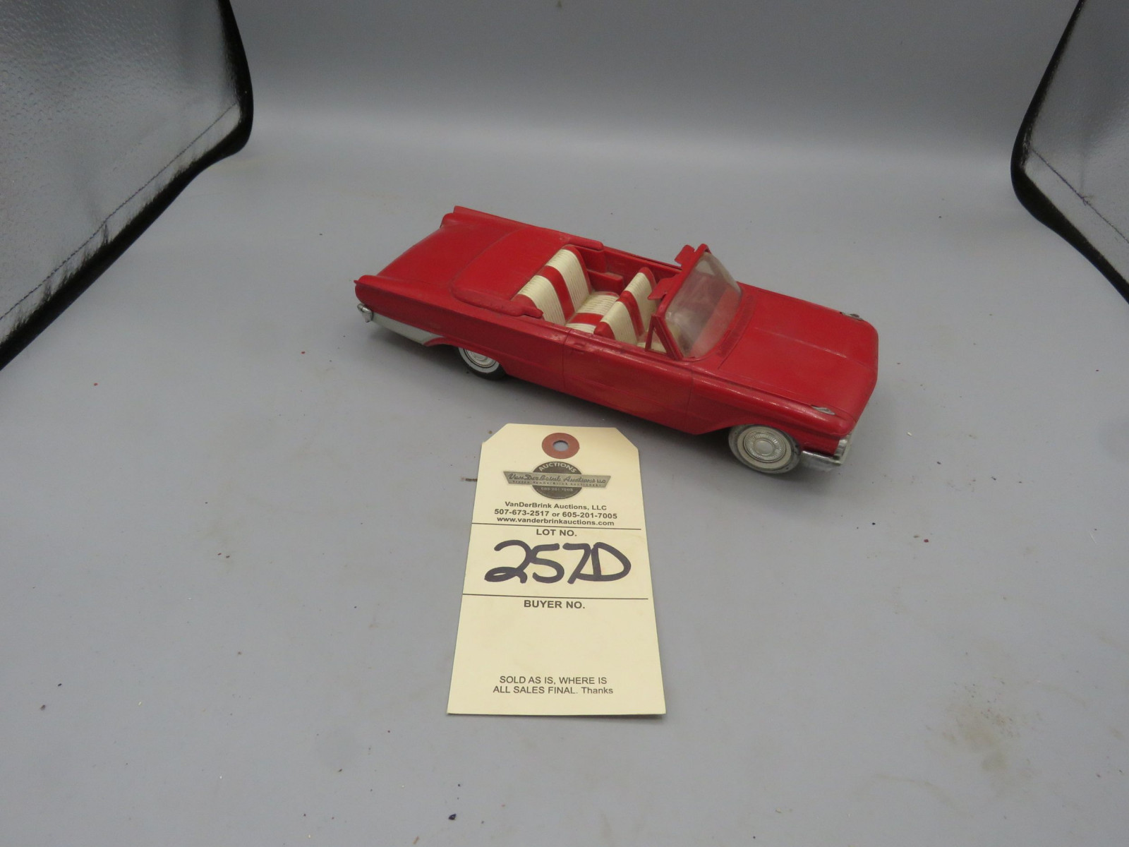 1961 Ford Convertible Promotional Model NIB Plastic - Image 1