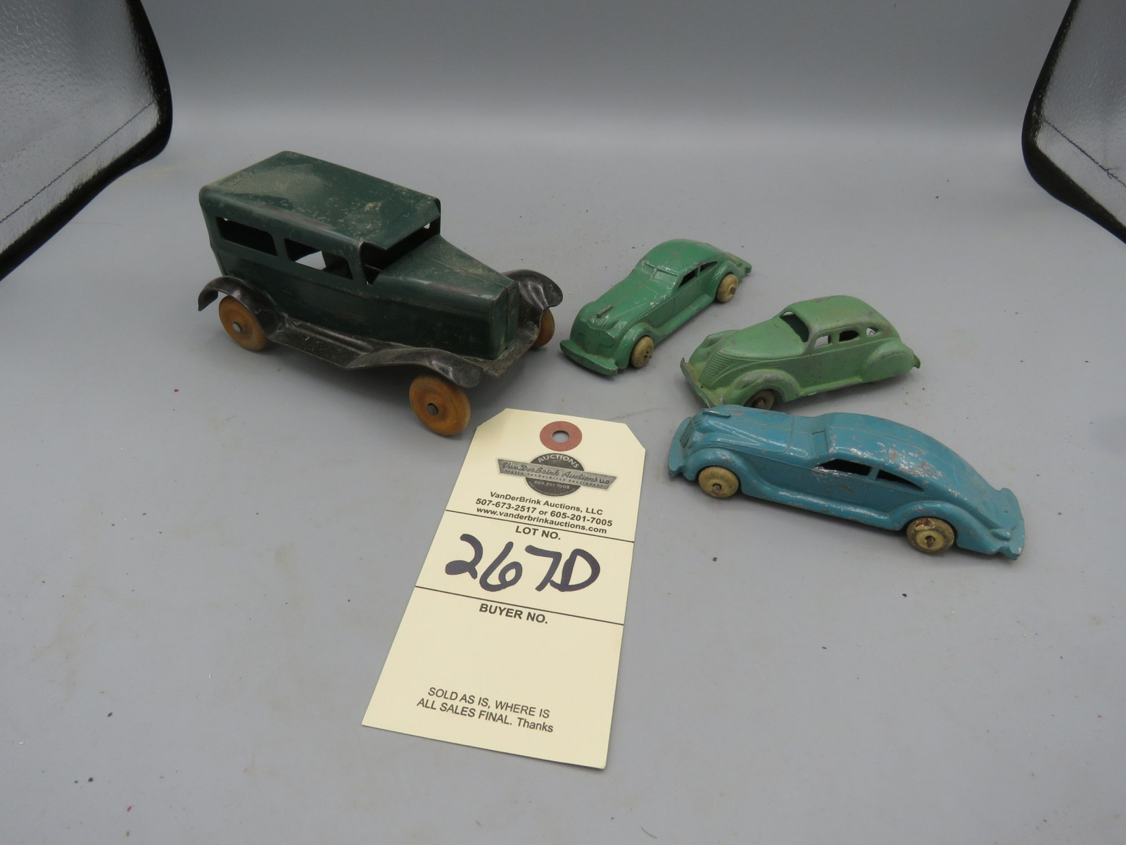 Vintage Car Toy Grouping - Image 1